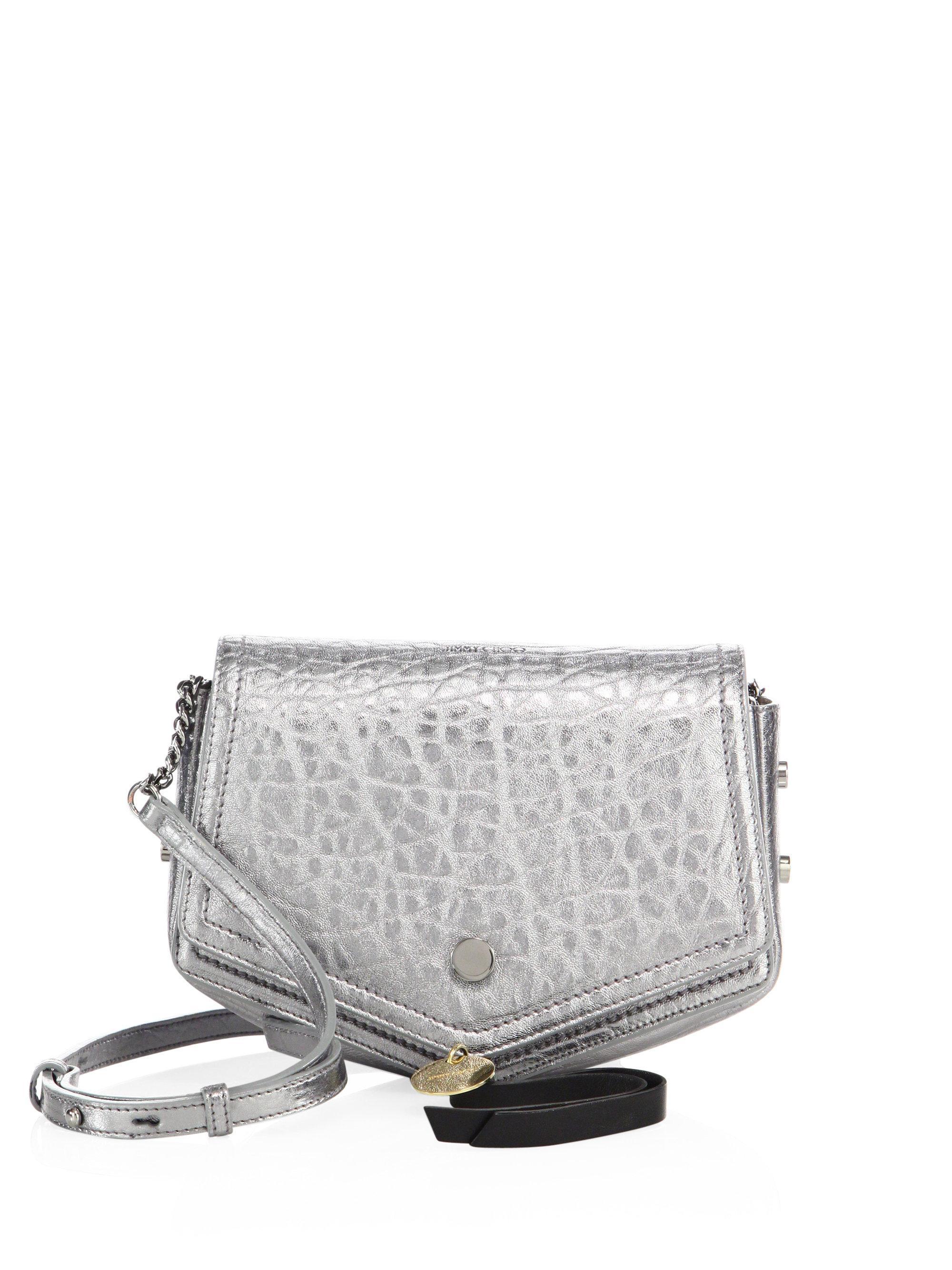 0d34510880577 Lyst - Jimmy Choo Arrow Metallic Leather Cross-body Bag
