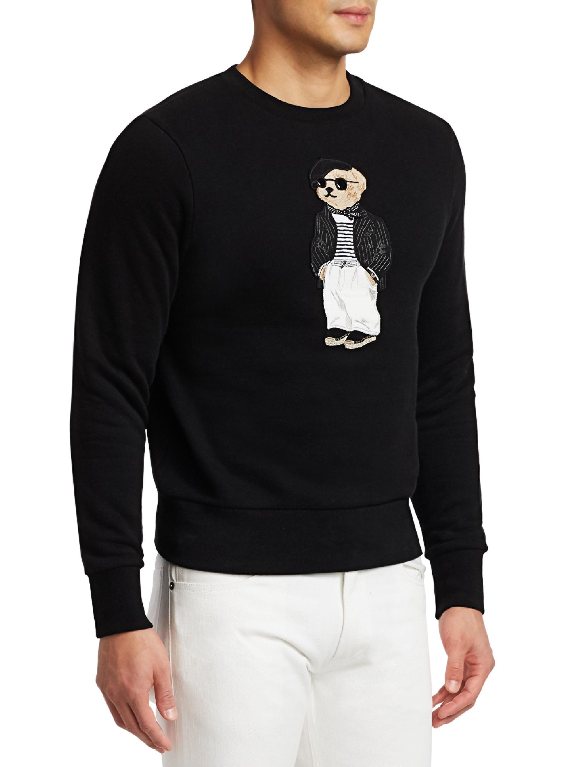 Ralph Lauren Purple Label - Black Lux Fleece Bear Sweatshirt for Men -  Lyst. View fullscreen 99bf7bdb4ba0a