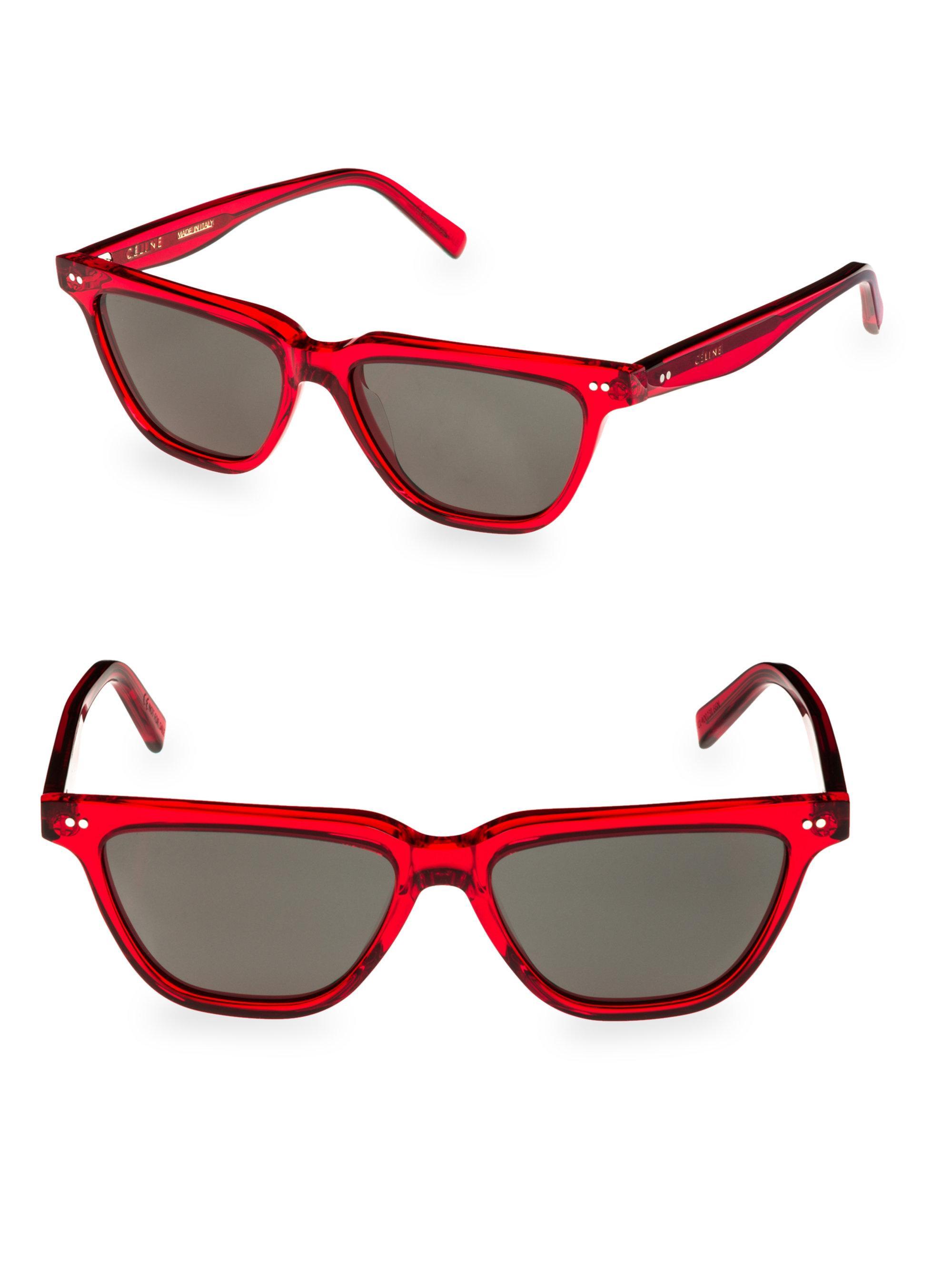 3c03def6f8800 Céline Flat Top Wayfarer Sunglasses in Red - Lyst