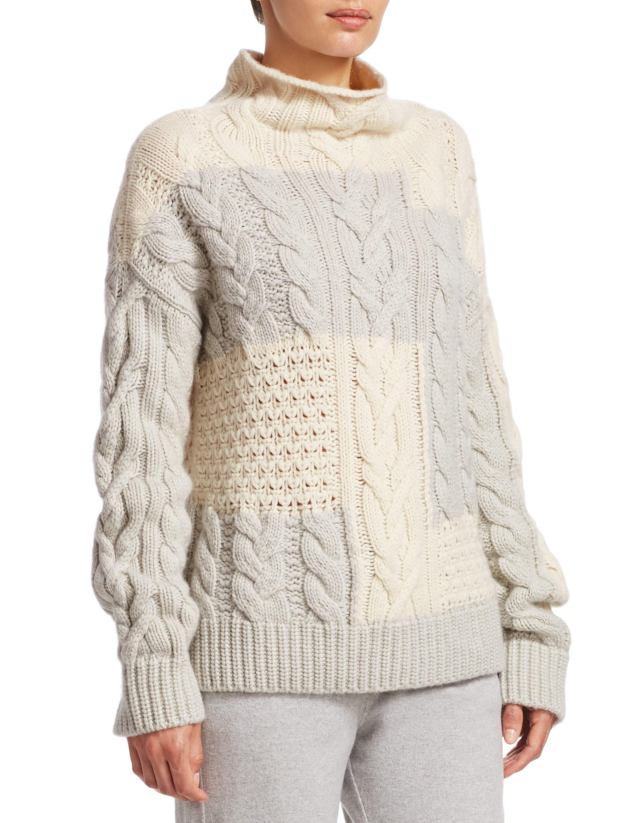 3b2730bae Lyst - Loro Piana Women s Baby Cashmere Cabled Sweater - White Snow ...