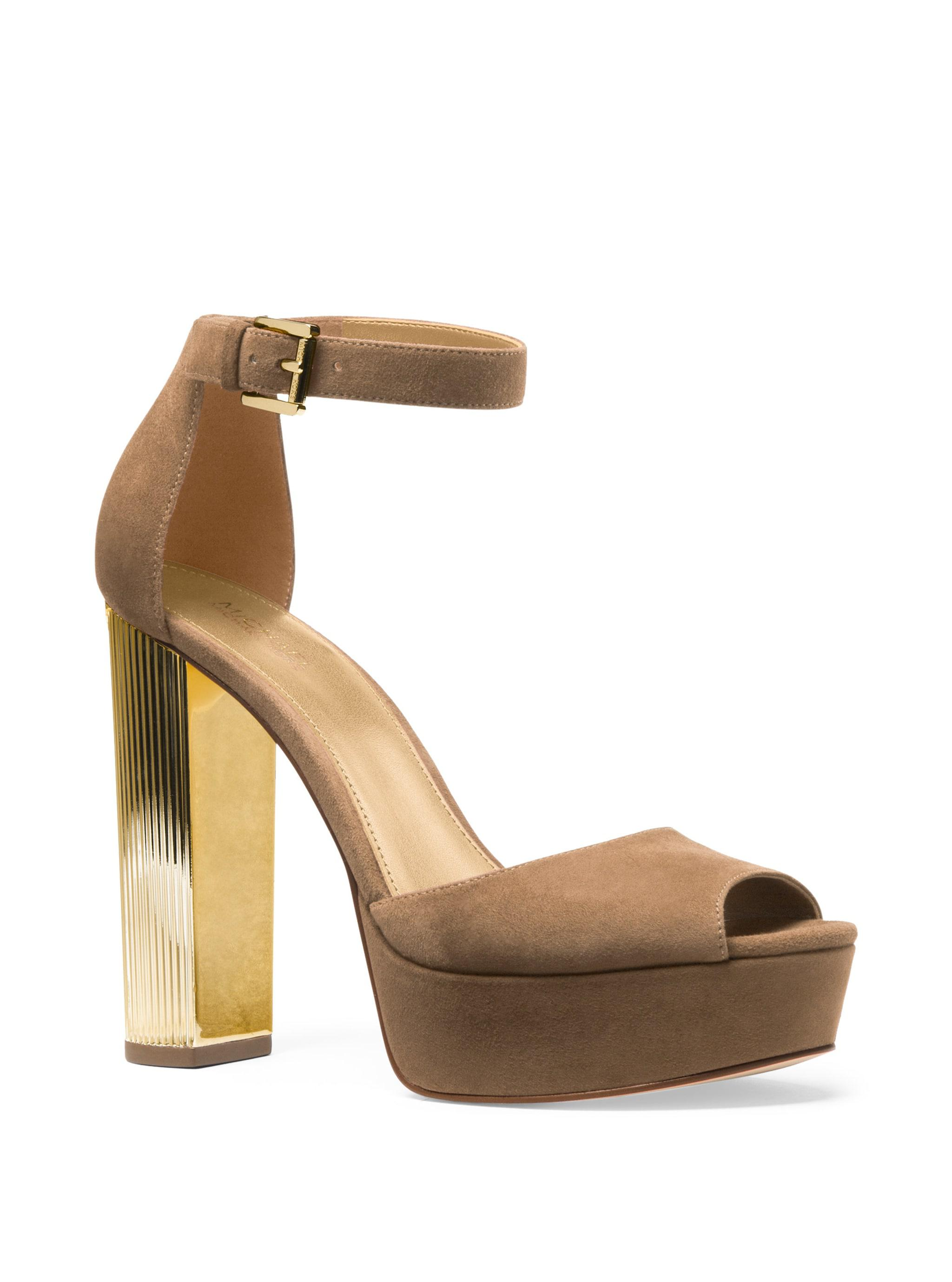 769f64ae636e MICHAEL Michael Kors Paloma Suede Platform Dress Sandals in Natural ...
