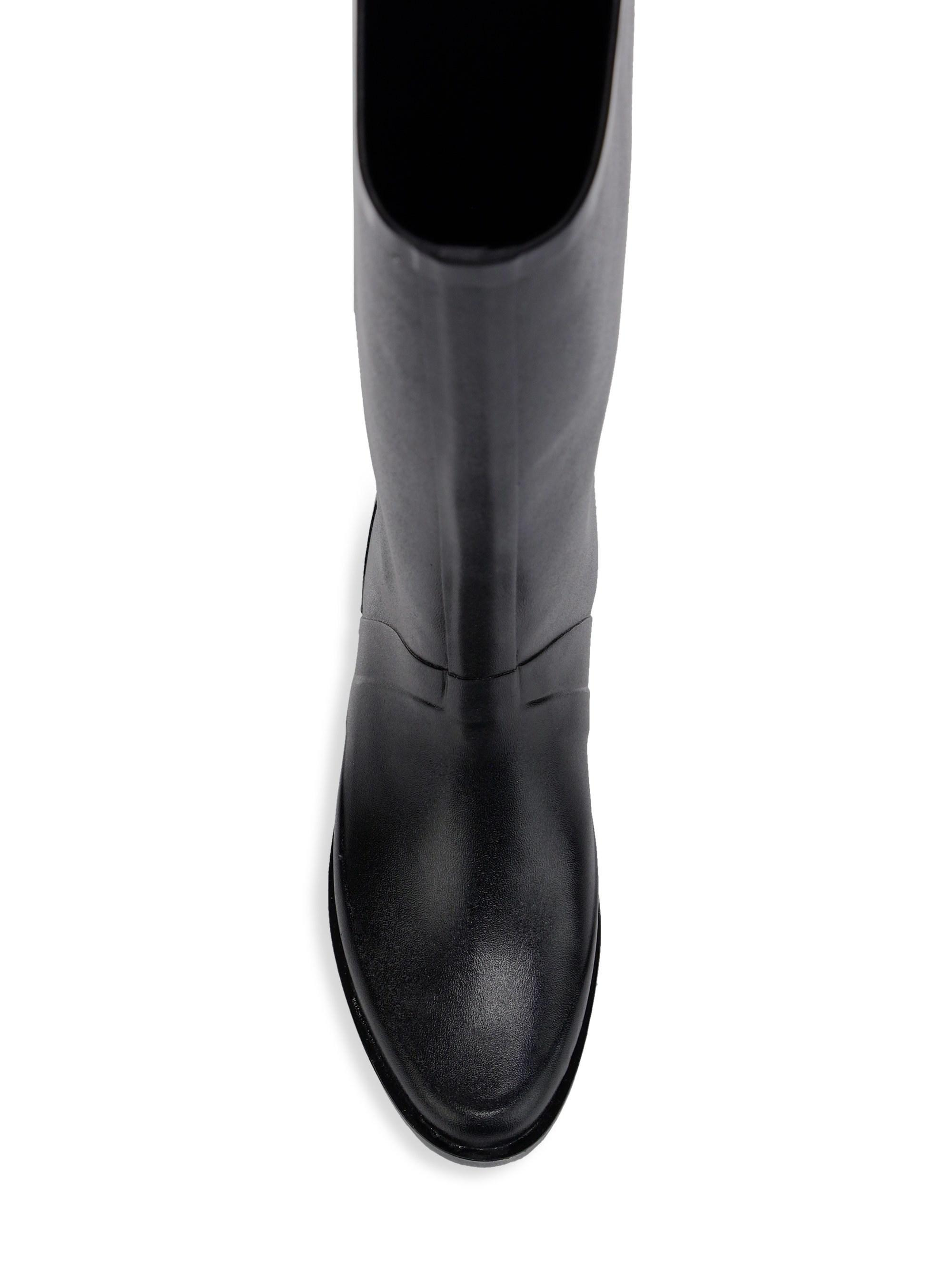 64c9bab5e92 Stuart Weitzman Griffin Leather Knee-high Riding Boots in Black - Lyst