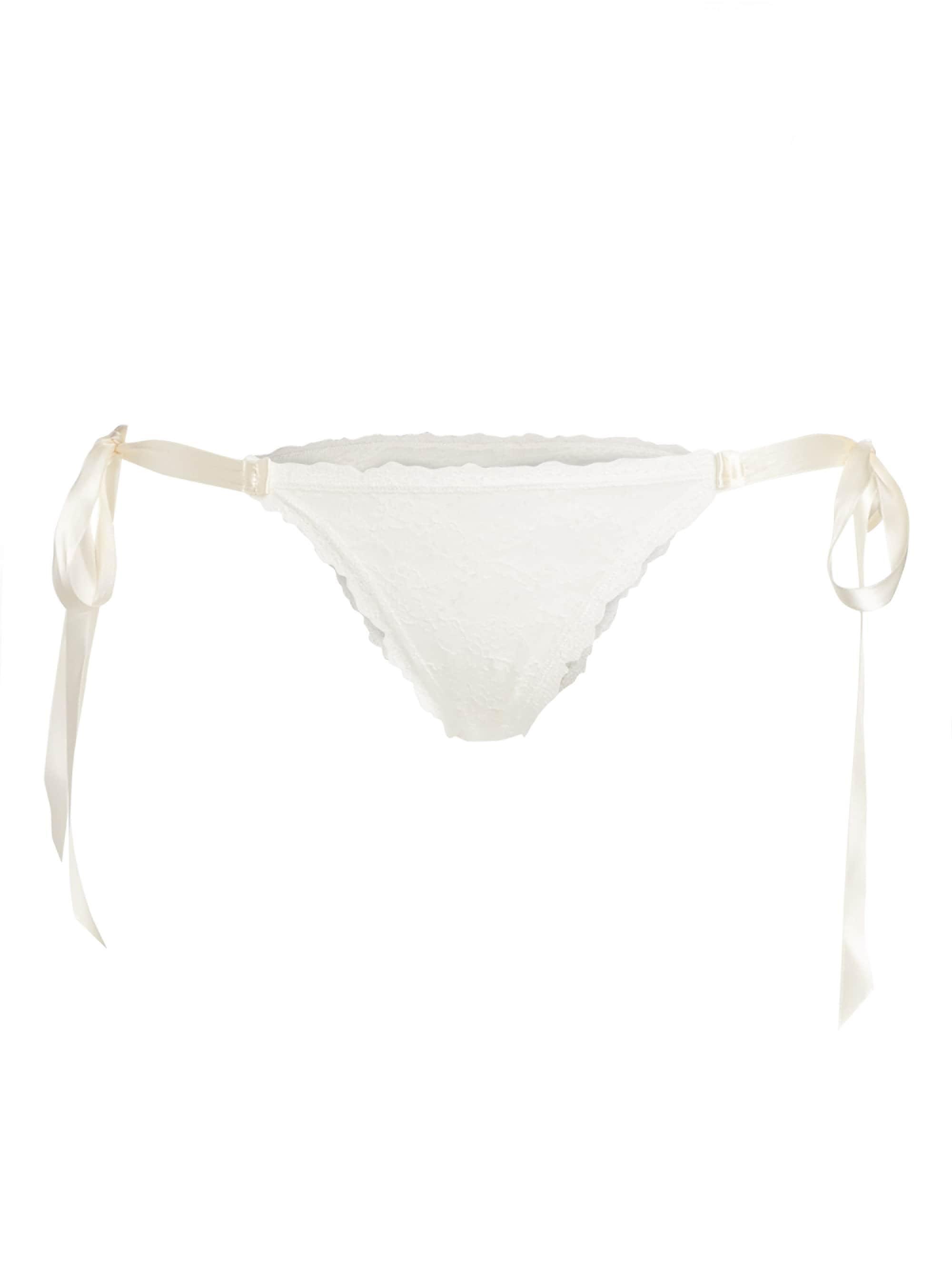 dffc679f5c9c Lyst - Hanky Panky Women's Lace Bikini Panties - Light Ivory - Size ...