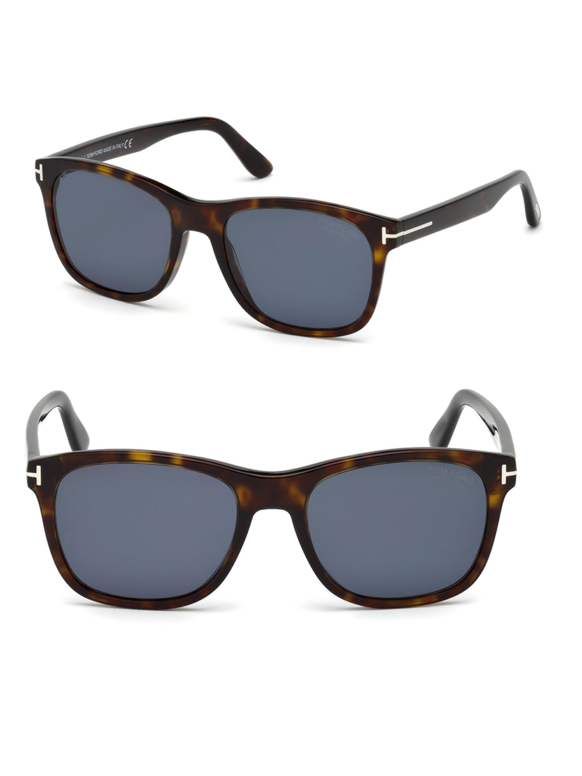 40c10d98eb Tom Ford 55mm Eric Squared Tortoise Shell Sunglasses in Blue for Men ...