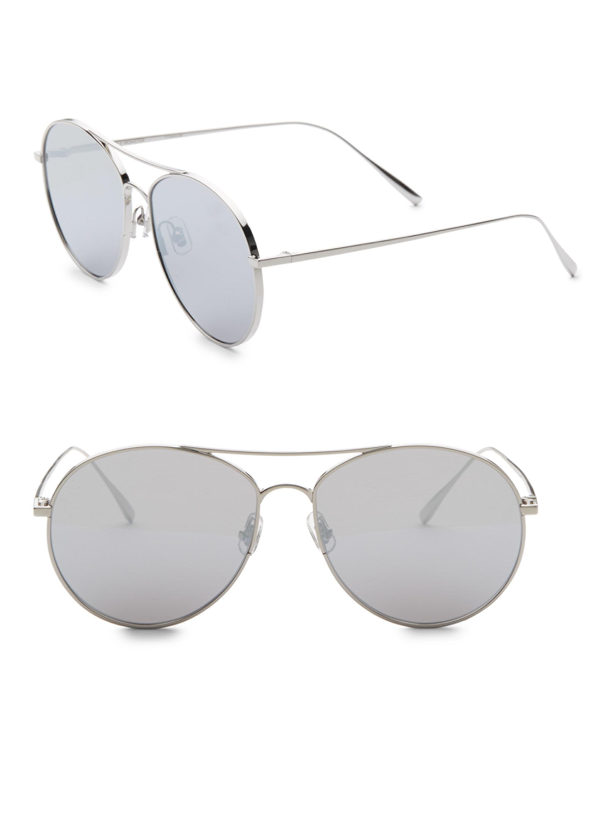 3ef87059885e Gentle Monster Ranny Ring 57mm Aviator Sunglasses in Metallic - Lyst