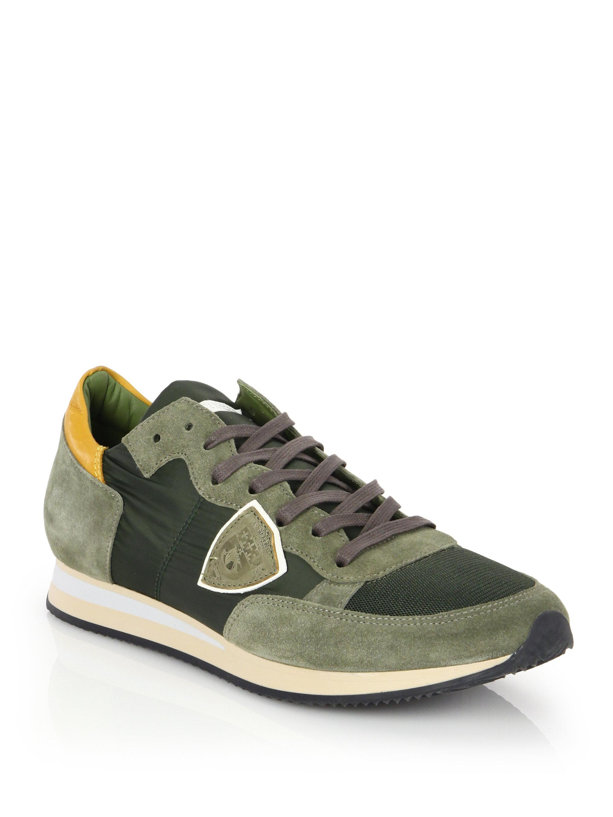 low cost ca93e b8ac8 philippe-model-green-Tropez-Lace-up-Leather-Low-top-Sneakers.jpeg
