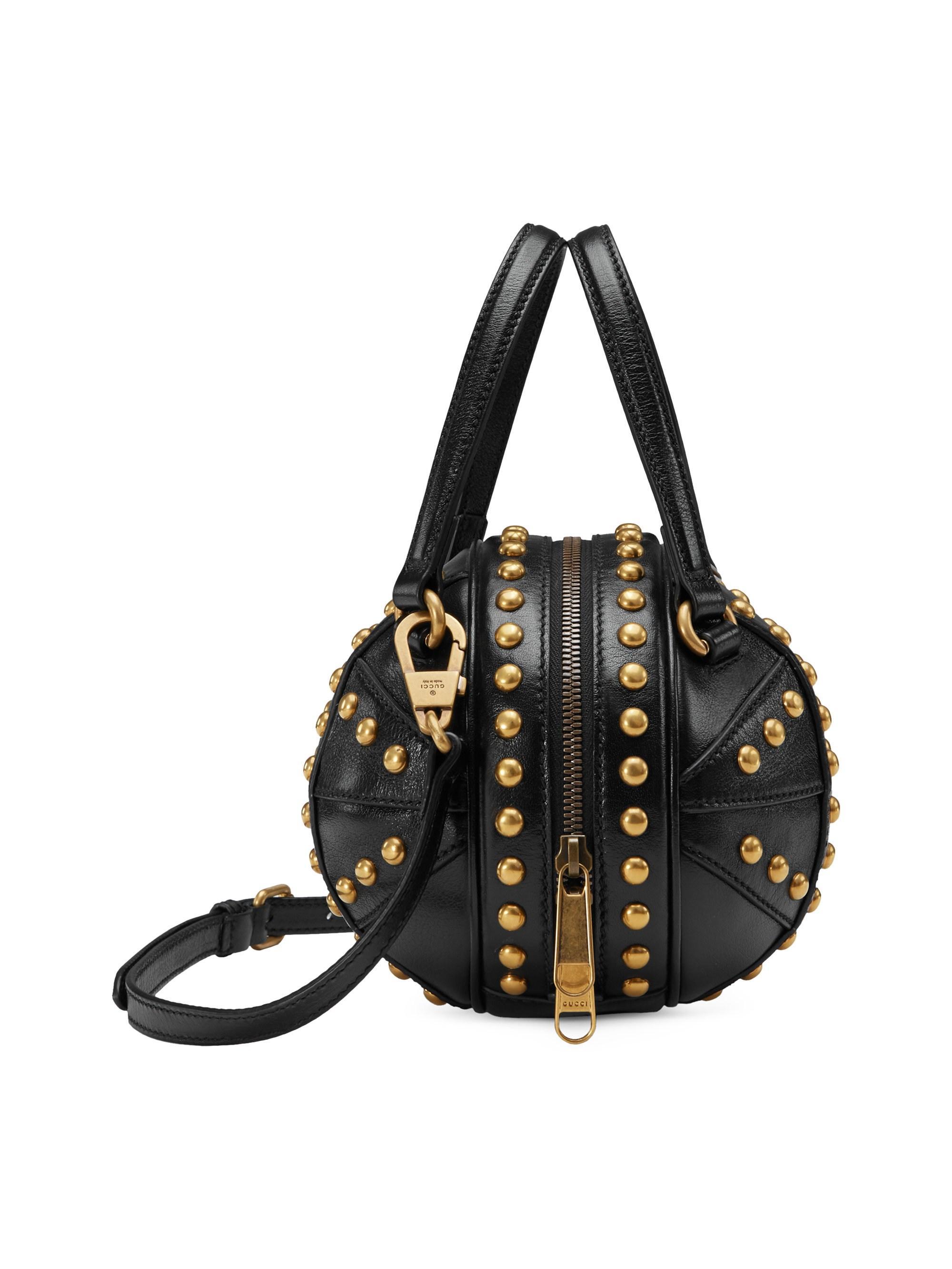 3c9f8aa99 Gucci Mini Tifosa Leather Shoulder Bag in Black - Lyst