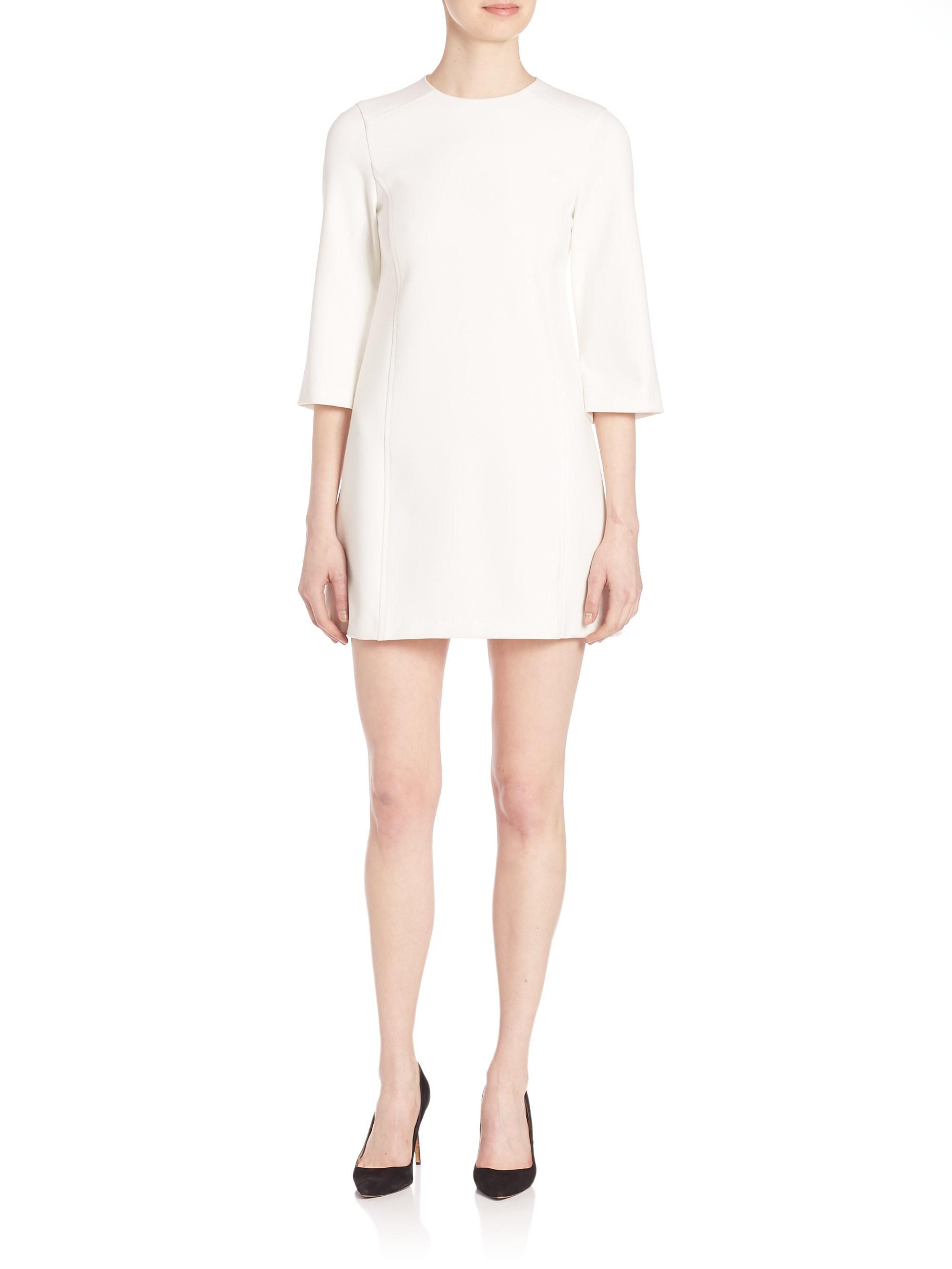79214405895 Alice + Olivia Women s Gem Shift Dress - Off White - Size 12 in ...