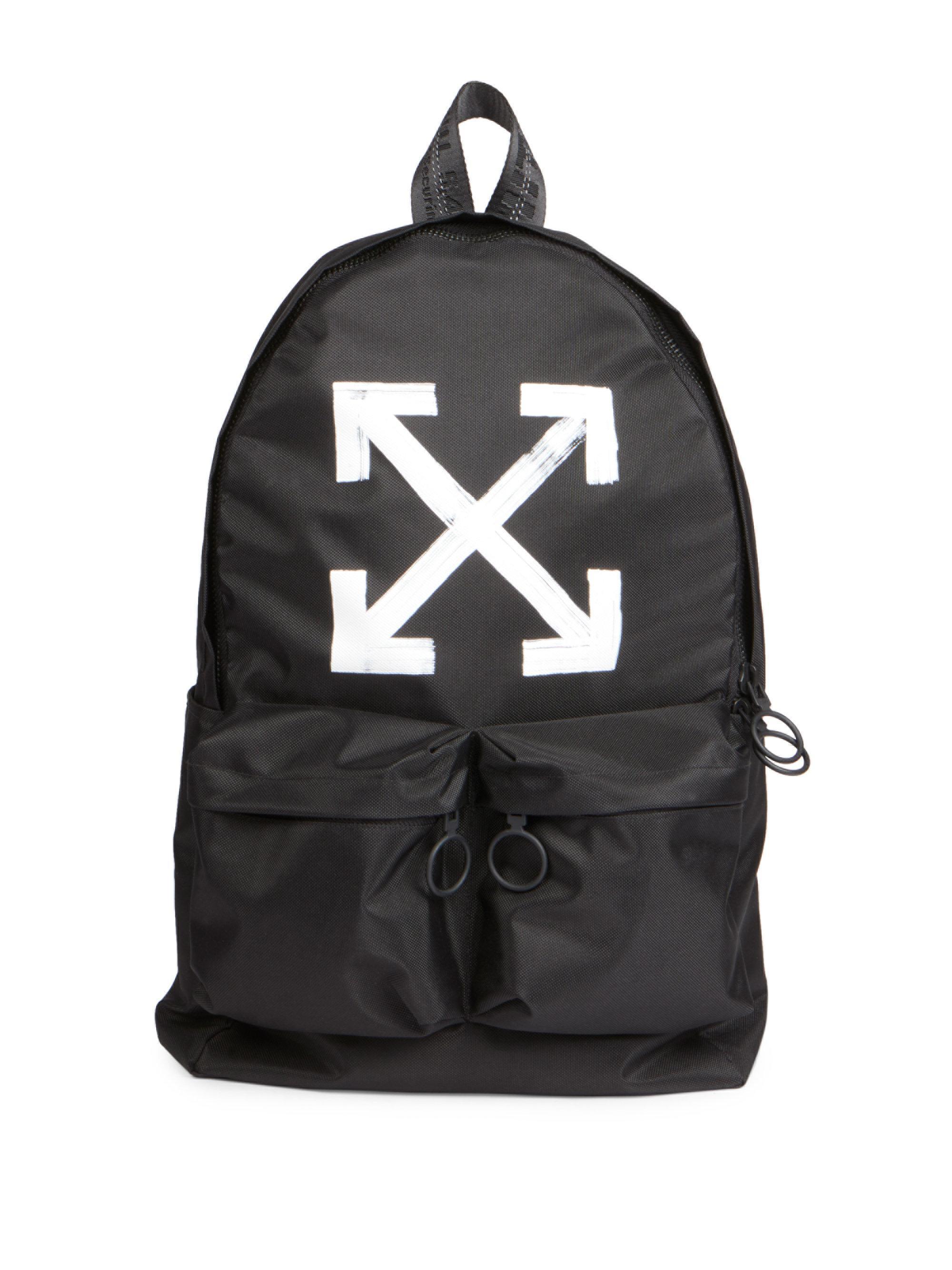 lyst off white c o virgil abloh brushed arrows backpack. Black Bedroom Furniture Sets. Home Design Ideas