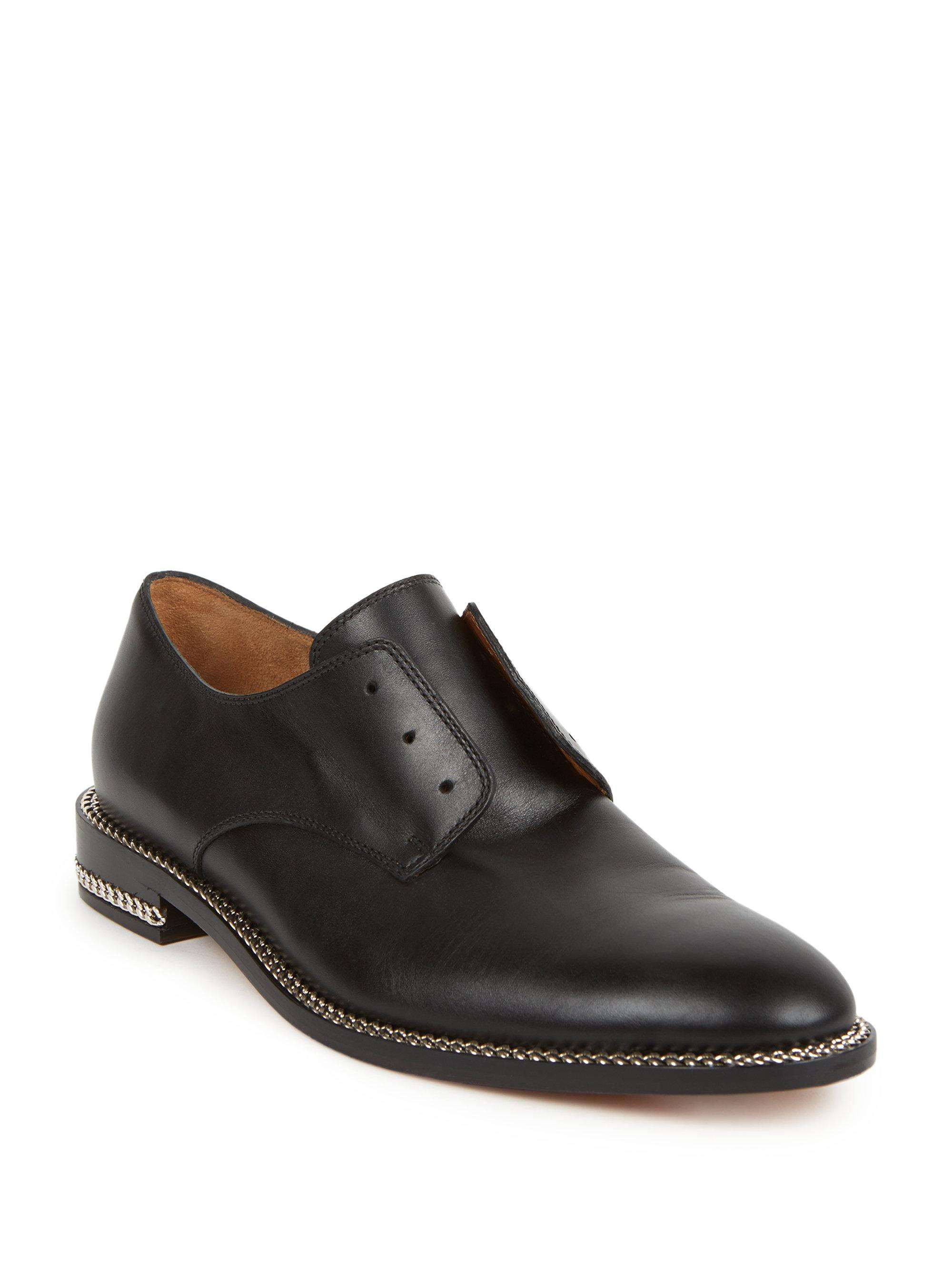 dedaa6a2d78 Lyst - Givenchy Leather Chain-trimmed Loafers in Black