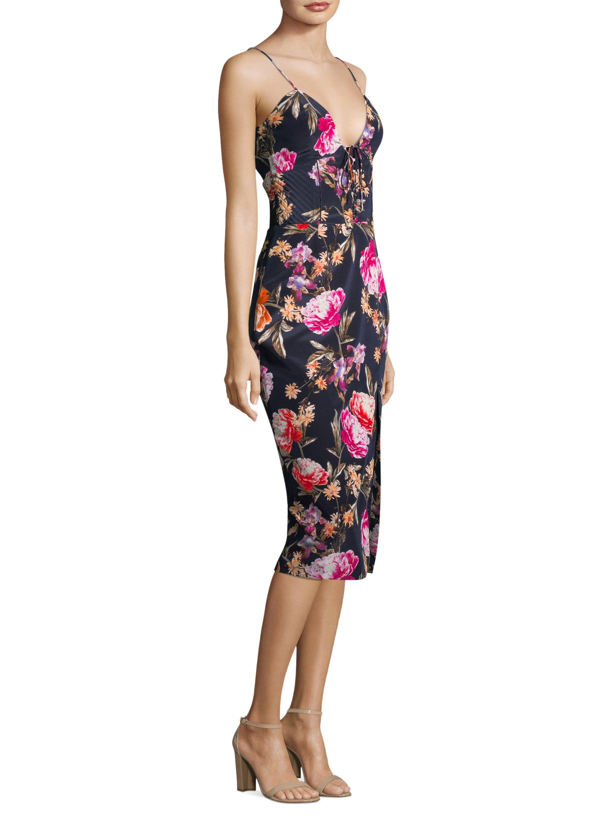 594c478a91 ... Lucile Silk Floral Dress - Lyst. View fullscreen