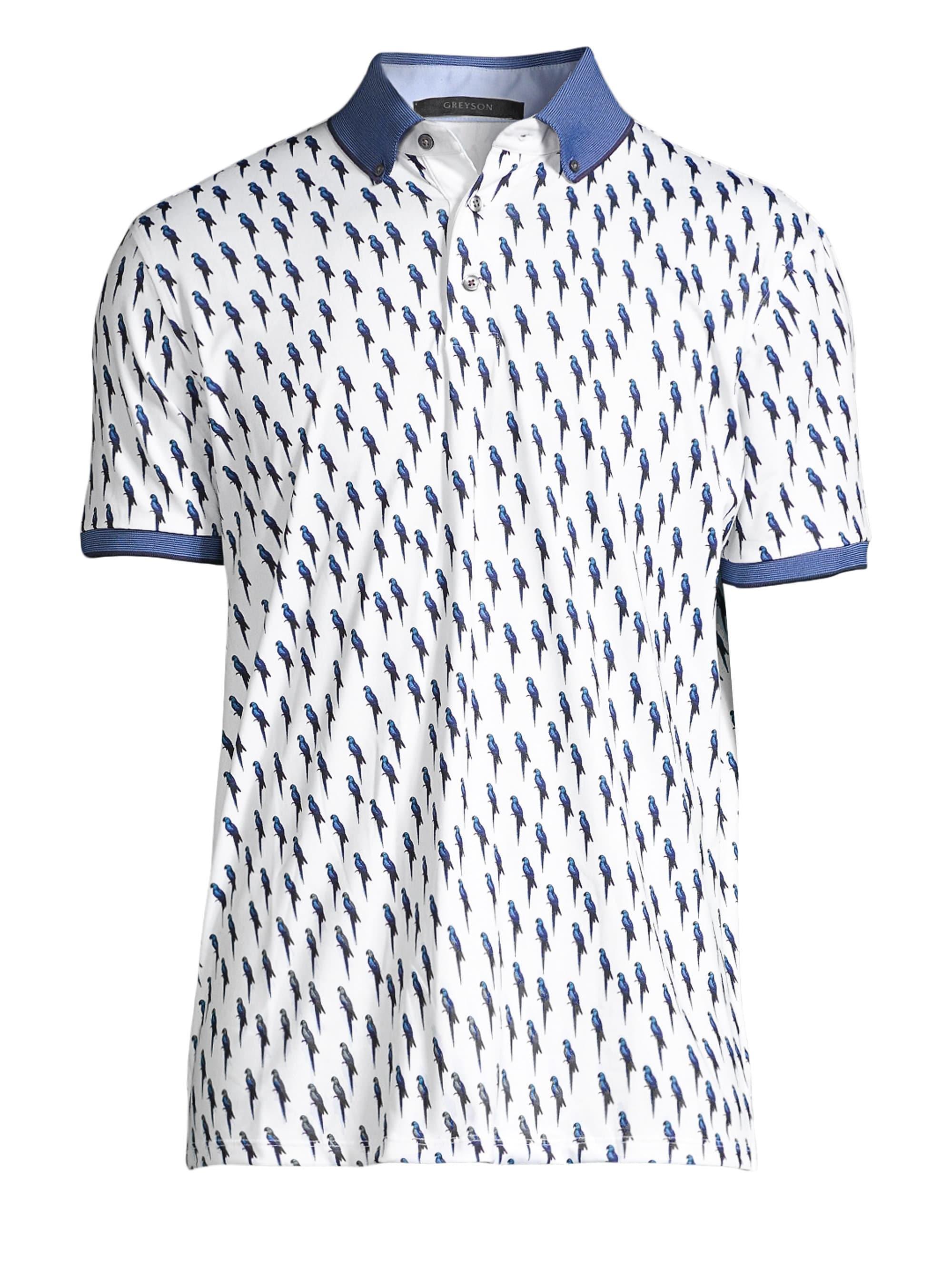 ebf2af59 Greyson - Blue Valentine Bird Print Polo for Men - Lyst. View fullscreen