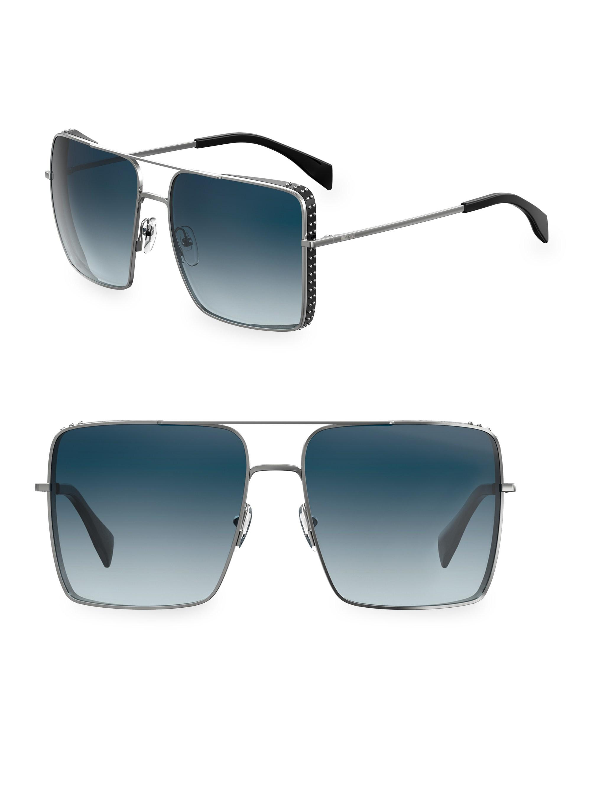 b49bd41637f77 Moschino 59mm Oversized Square Sunglasses in Blue for Men - Lyst