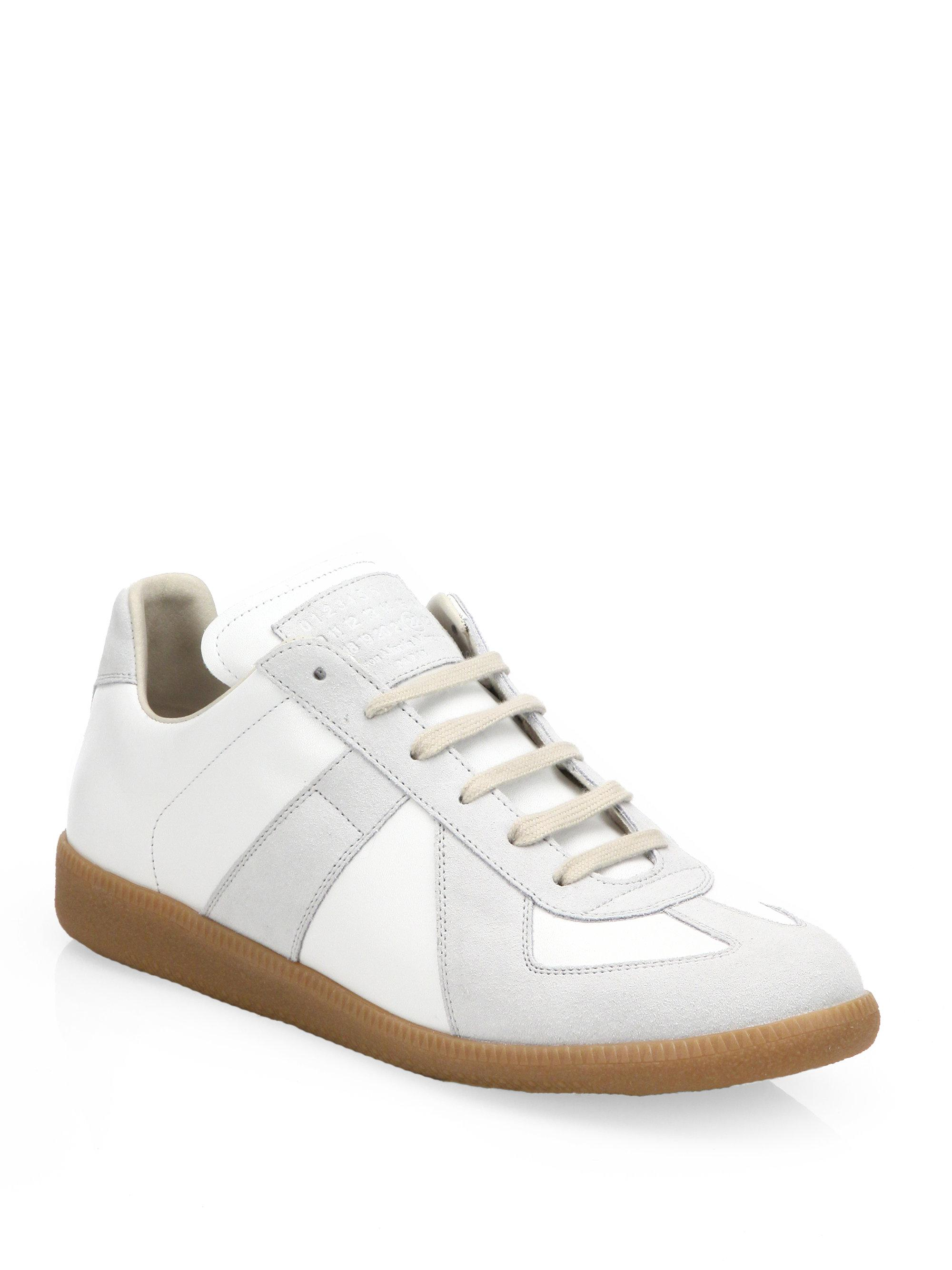 Maison Margiela white and grey replica leather sneakers outlet low price new cheap price 4u5Dq