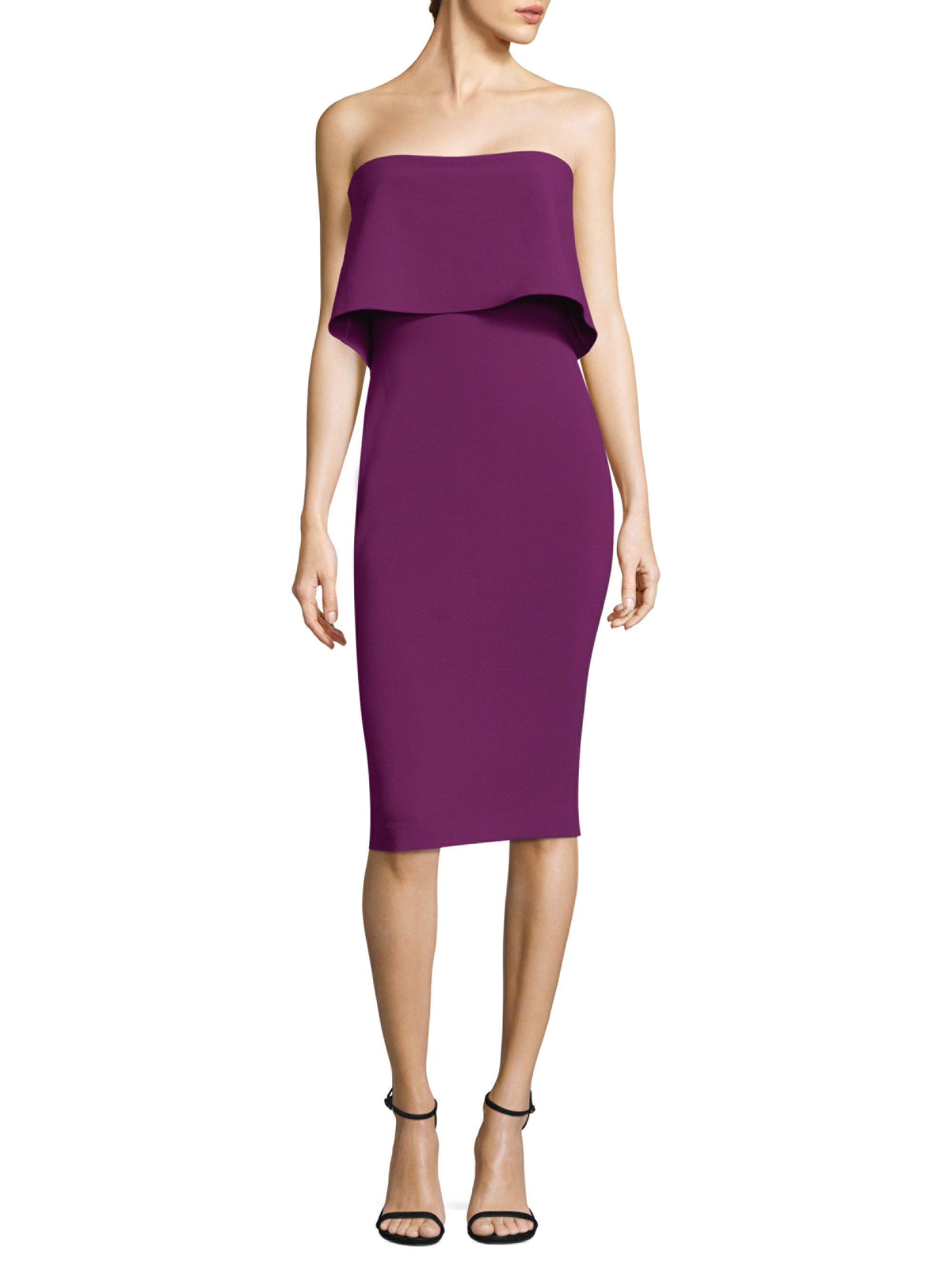 Lyst - Likely Driggs Strapless Dress in Purple