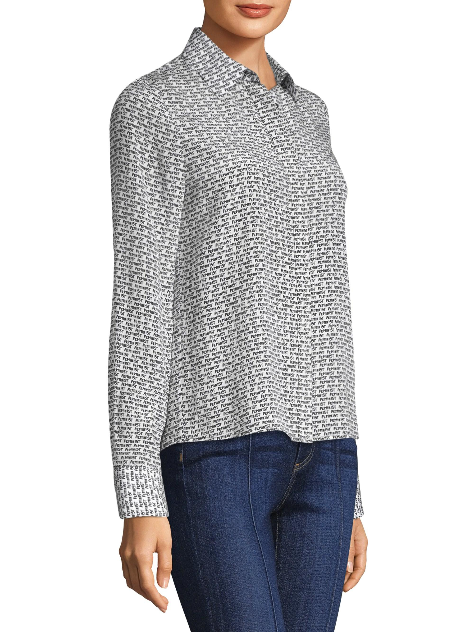 9b6b675c6485a0 Alice + Olivia Willa Silk Button-down Shirt - Lyst