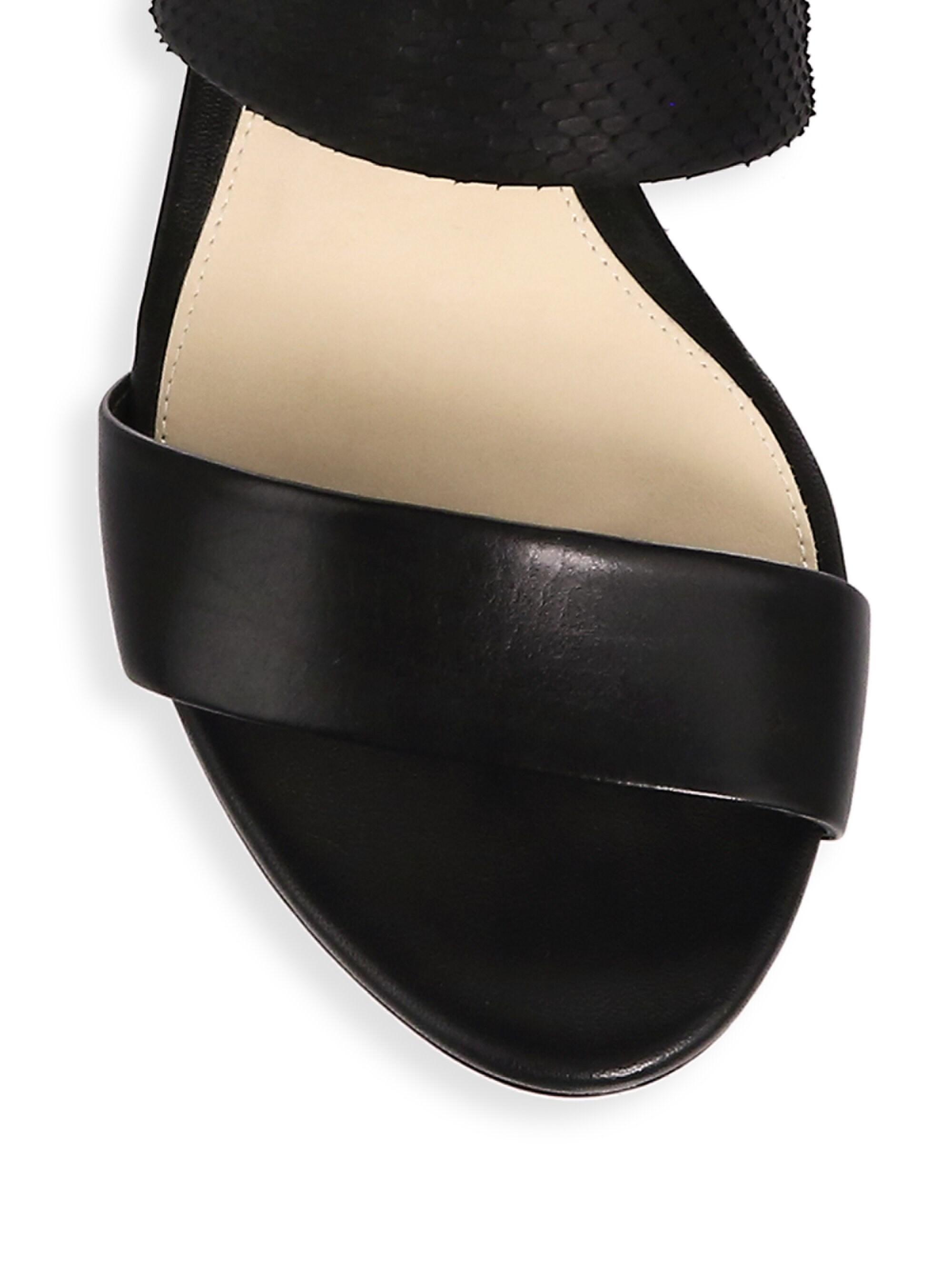 54af9fbf0fb Lyst - Alexandre Birman New Yanna Python   Leather Platform Sandals in Black