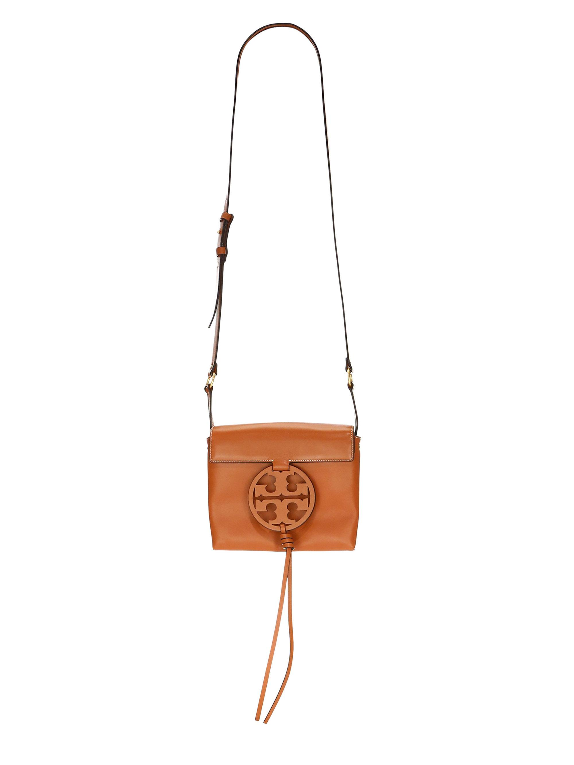553738a64ac Lyst - Tory Burch Miller Leather Crossbody Bag in Brown