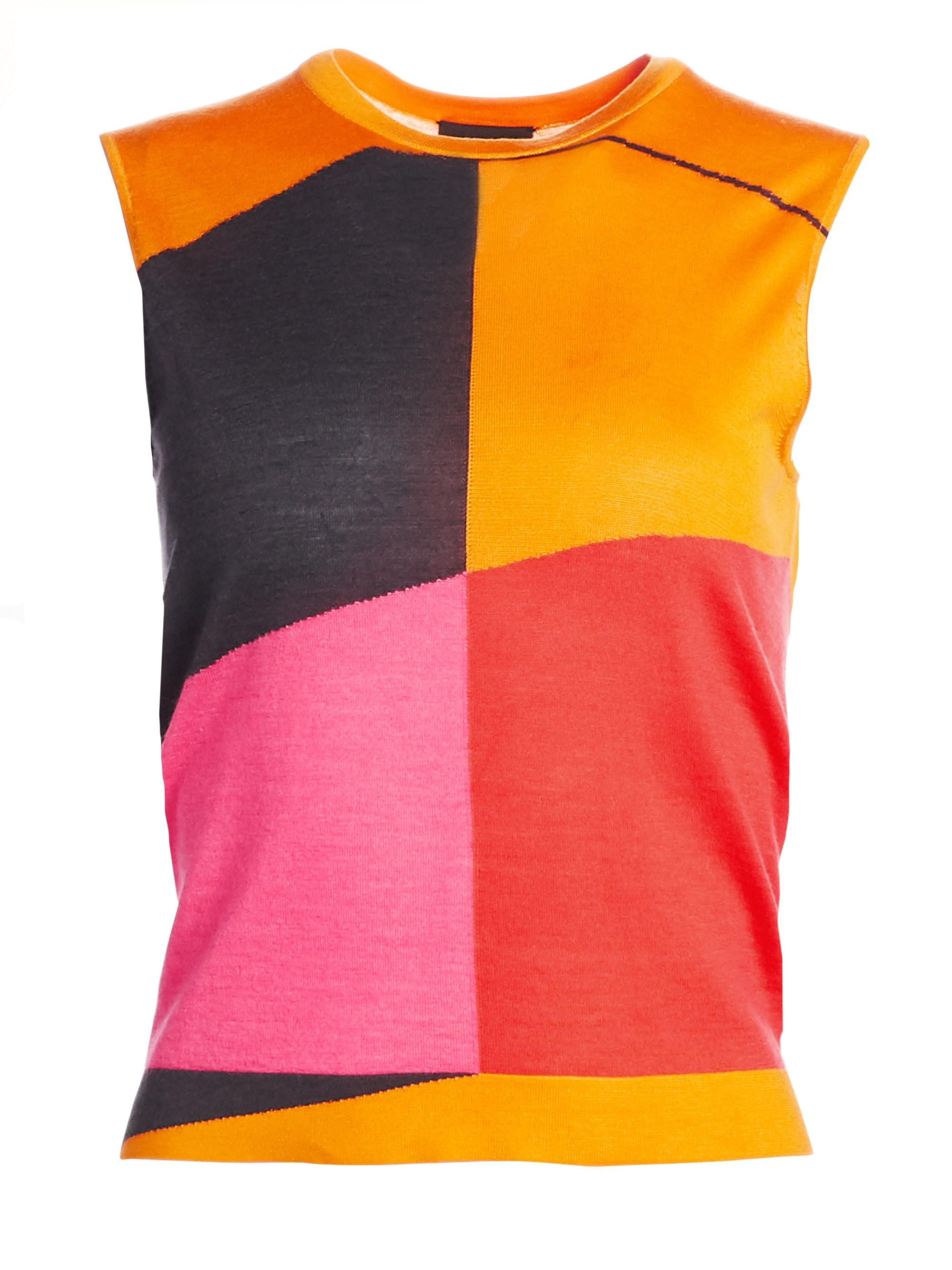 6b97e44900bf22 Lyst - Akris Sleeveless Cashmere Silk Sunrise Tank in Pink