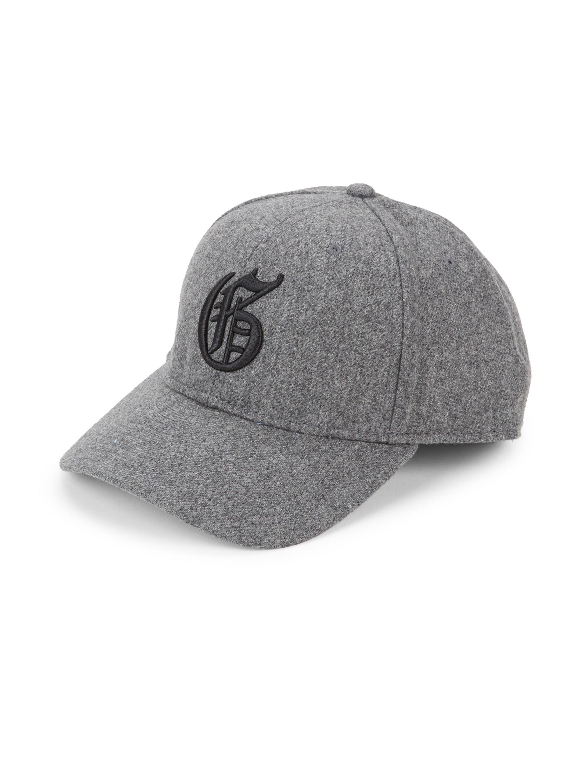 f273b39eab3 Lyst - Greyson Flannel Logo Cap in Gray for Men