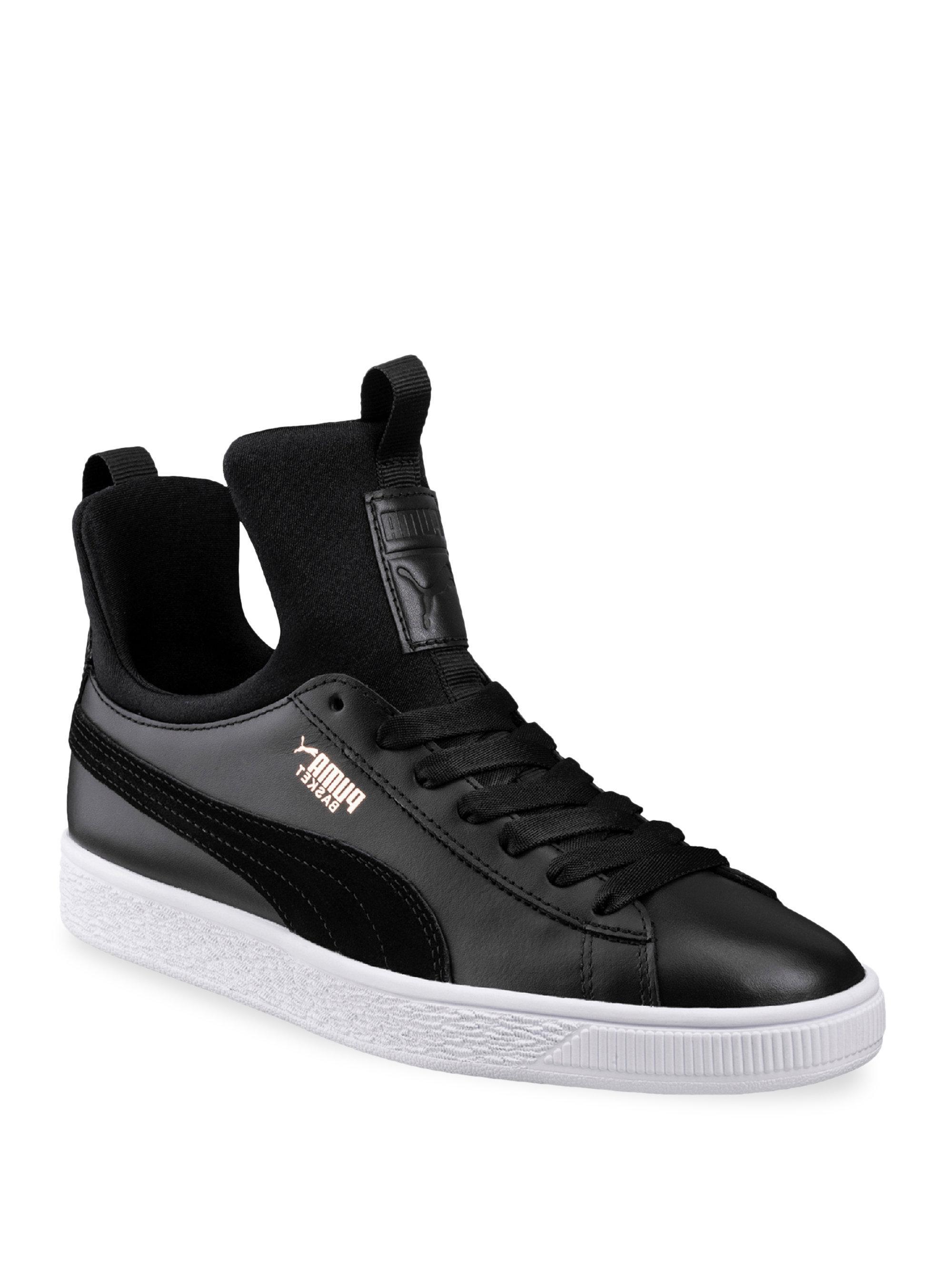 PUMA. Men's Black Basket Fierce Sneakers