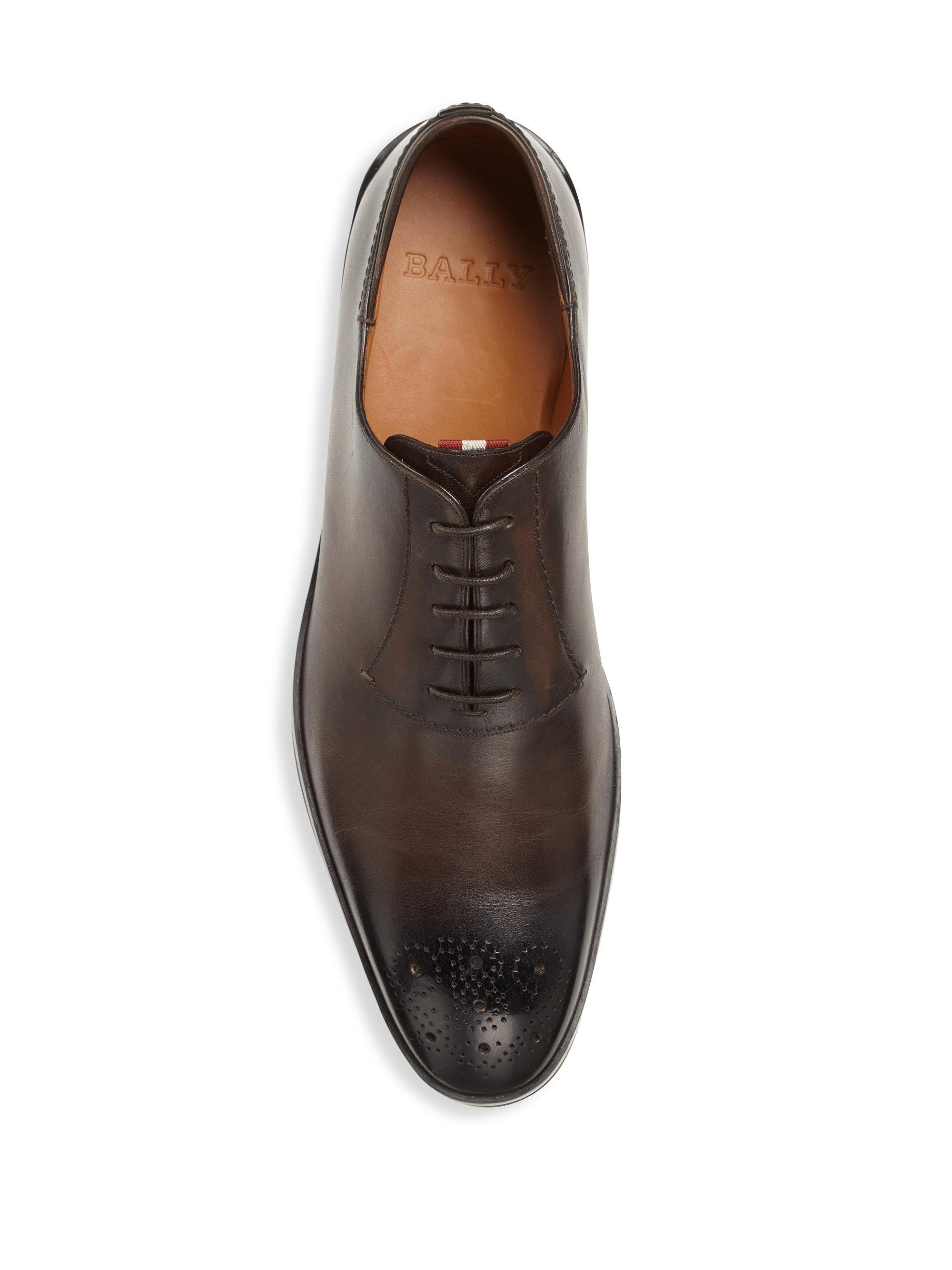 761e054a1ef Bally Reddison Hybrid Leather Dress Shoes in Brown for Men - Lyst