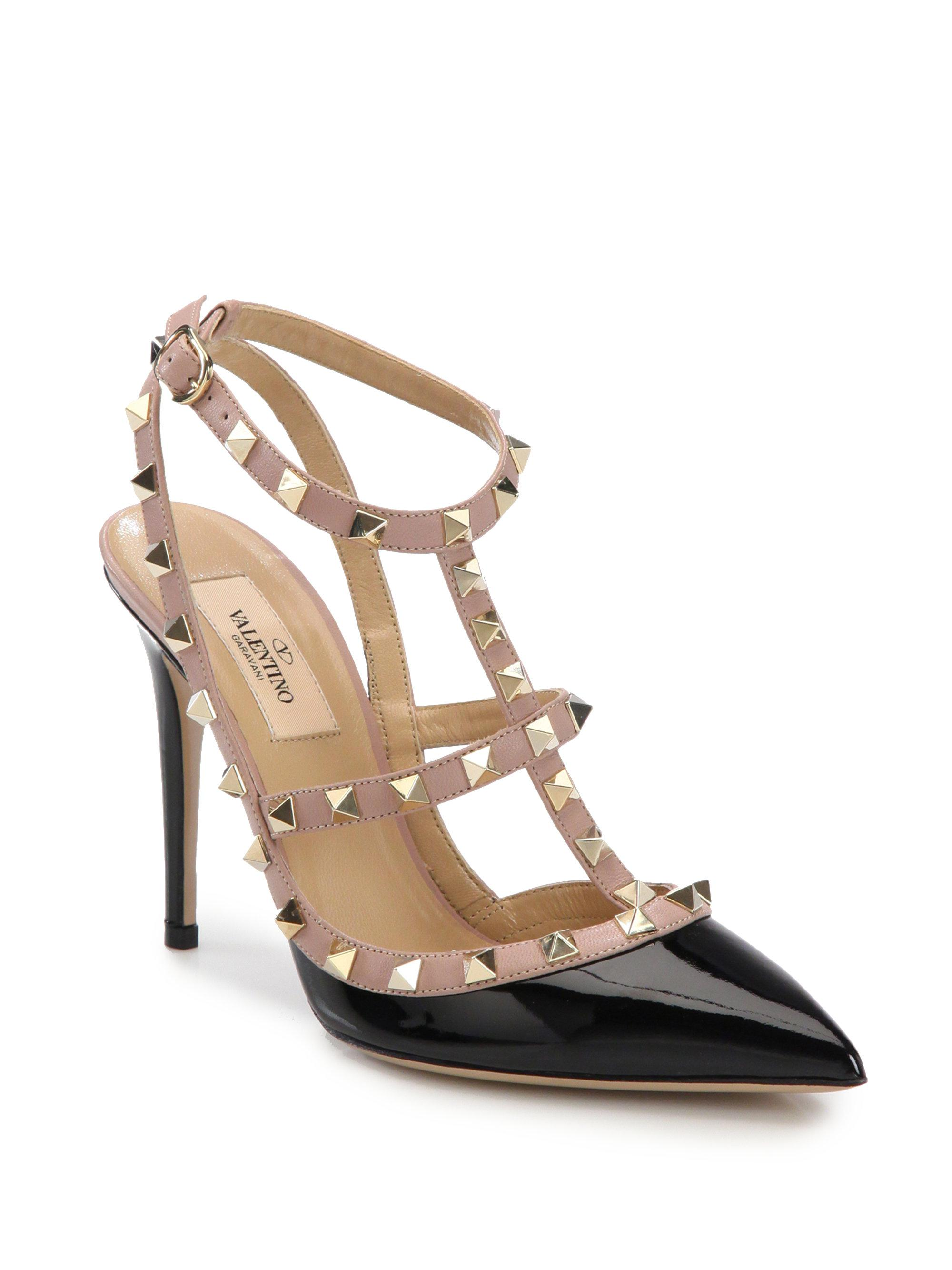 cheap price in China 2014 cheap online Valentino Patent Leather Slingback Sandals clearance new styles discount choice hhaYQdKXIF