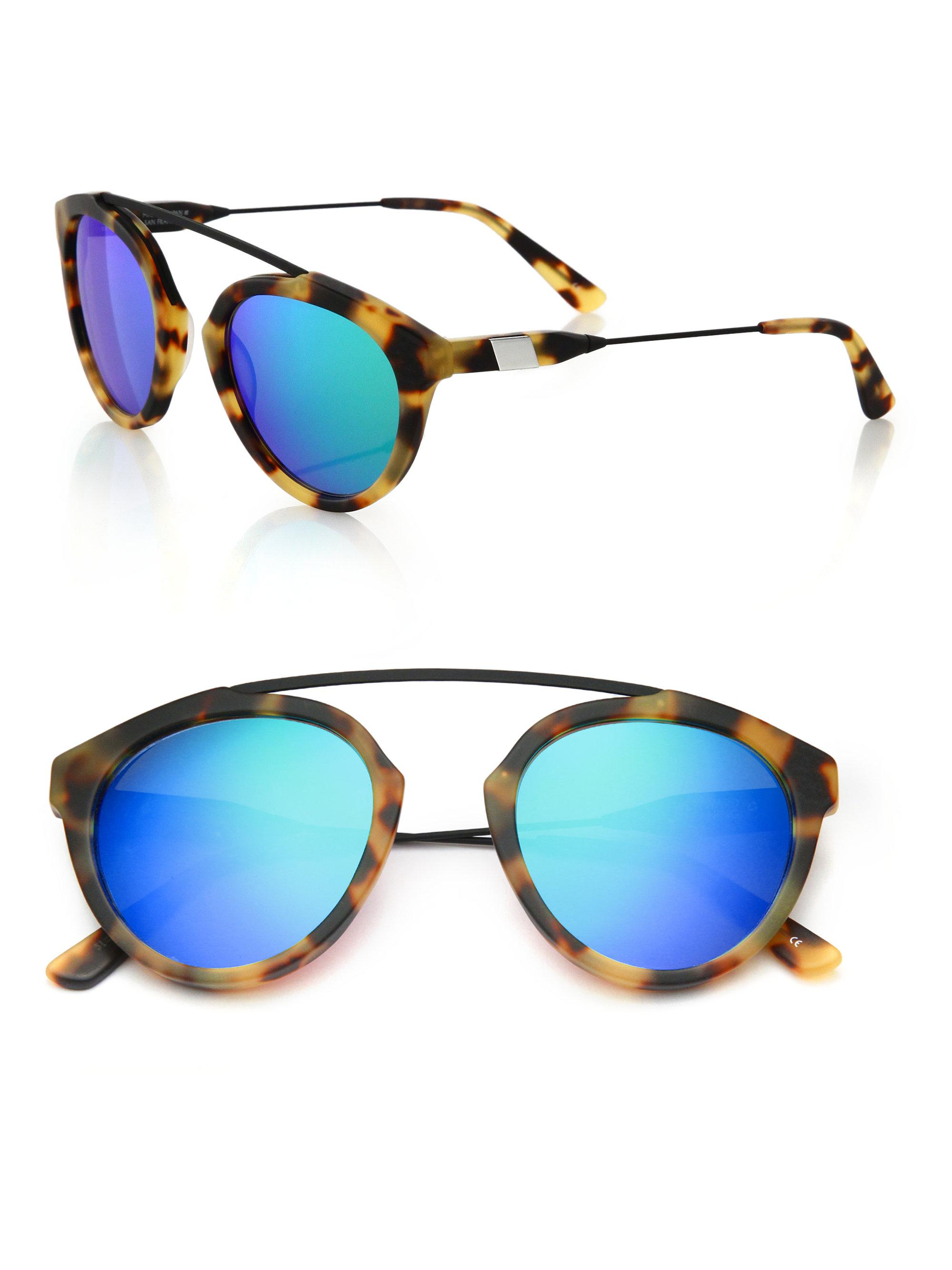 Flower sunglasses - Blue Westward Leaning OPzKeDD