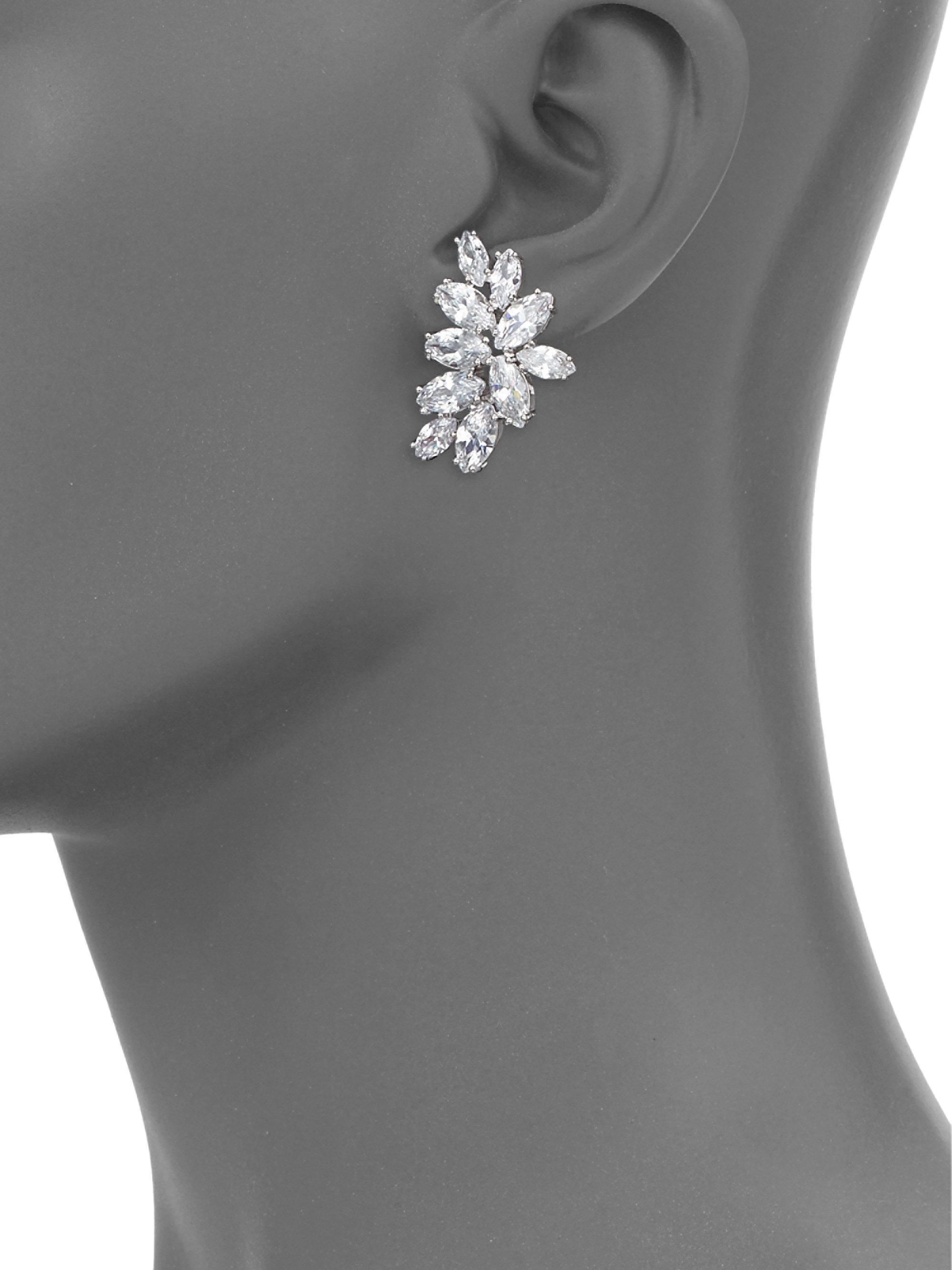 Fallon Monarch Mini Cluster Crystal Earrings uOx5OJAuzi
