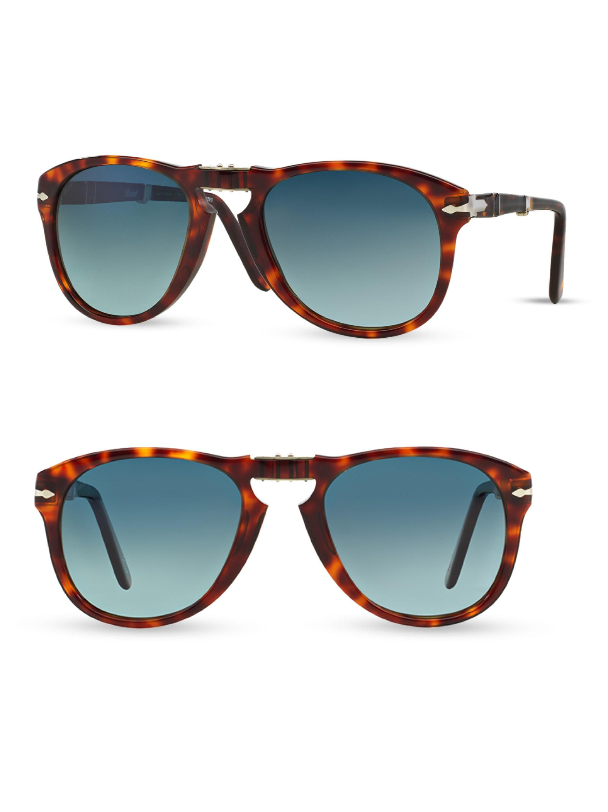 2368d6d53c4f1 Persol Folding Keyhole Sunglasses in Blue for Men - Lyst