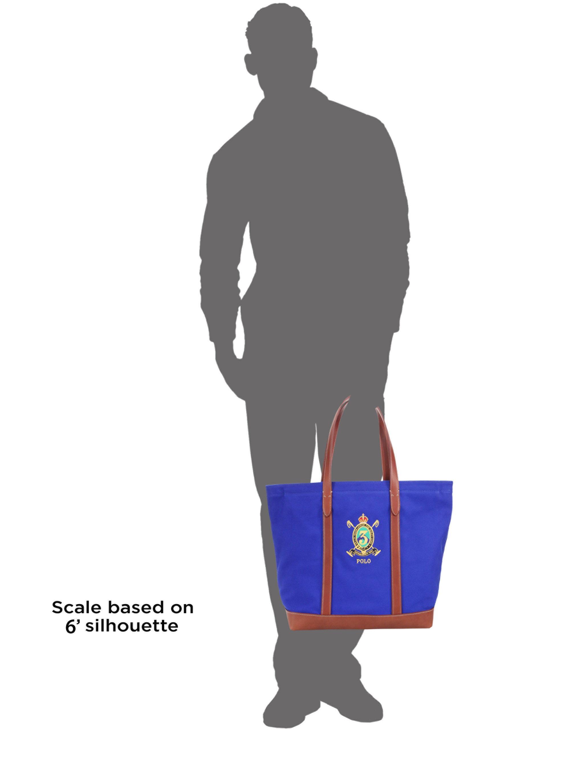 fd19f1a1e1f6 Polo Ralph Lauren Crest Canvas Tote in Blue for Men - Lyst