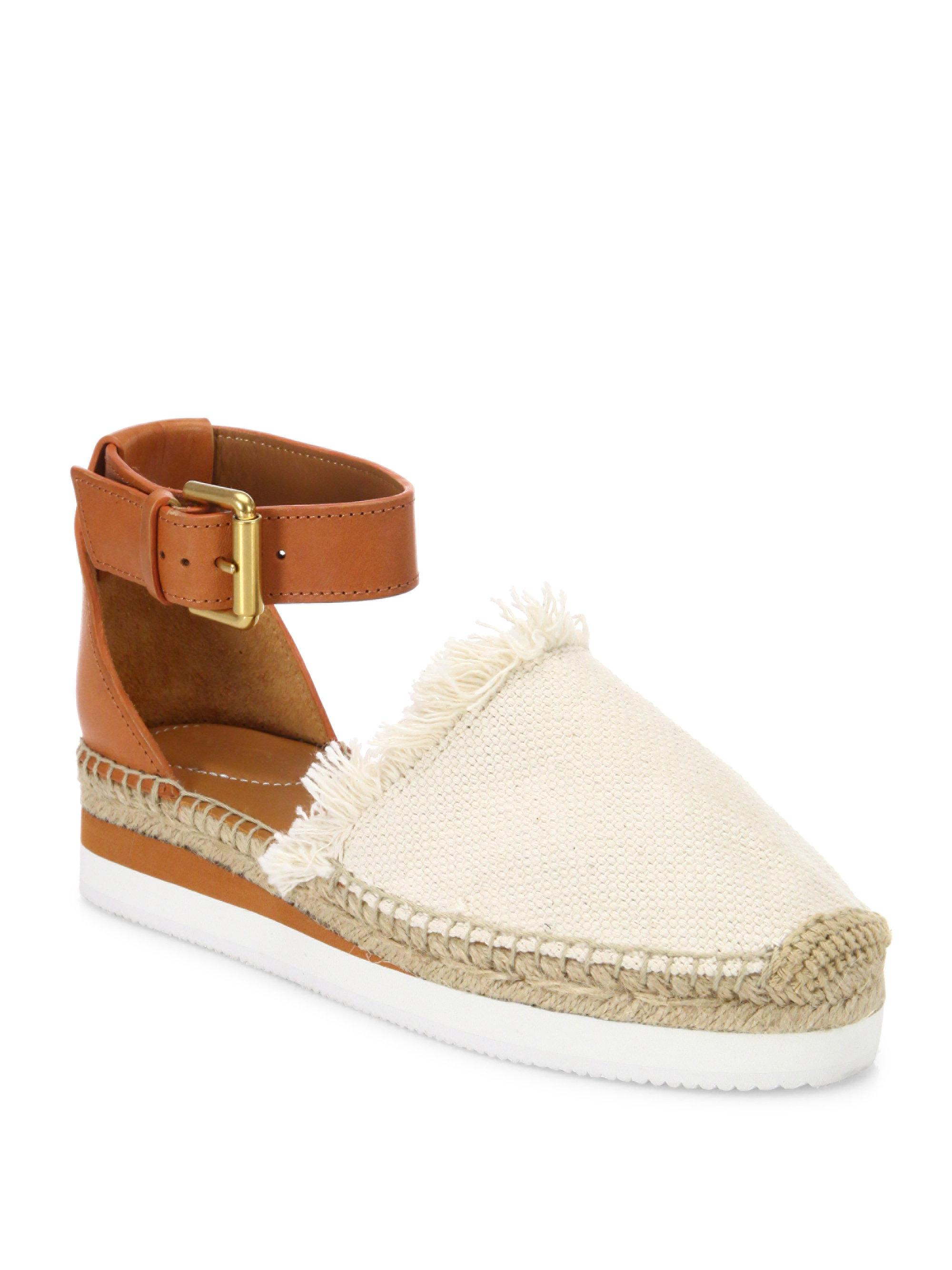 Outlet Authentic Cheap Sale Best Place Canvas and suede espadrilles Chlo xads1