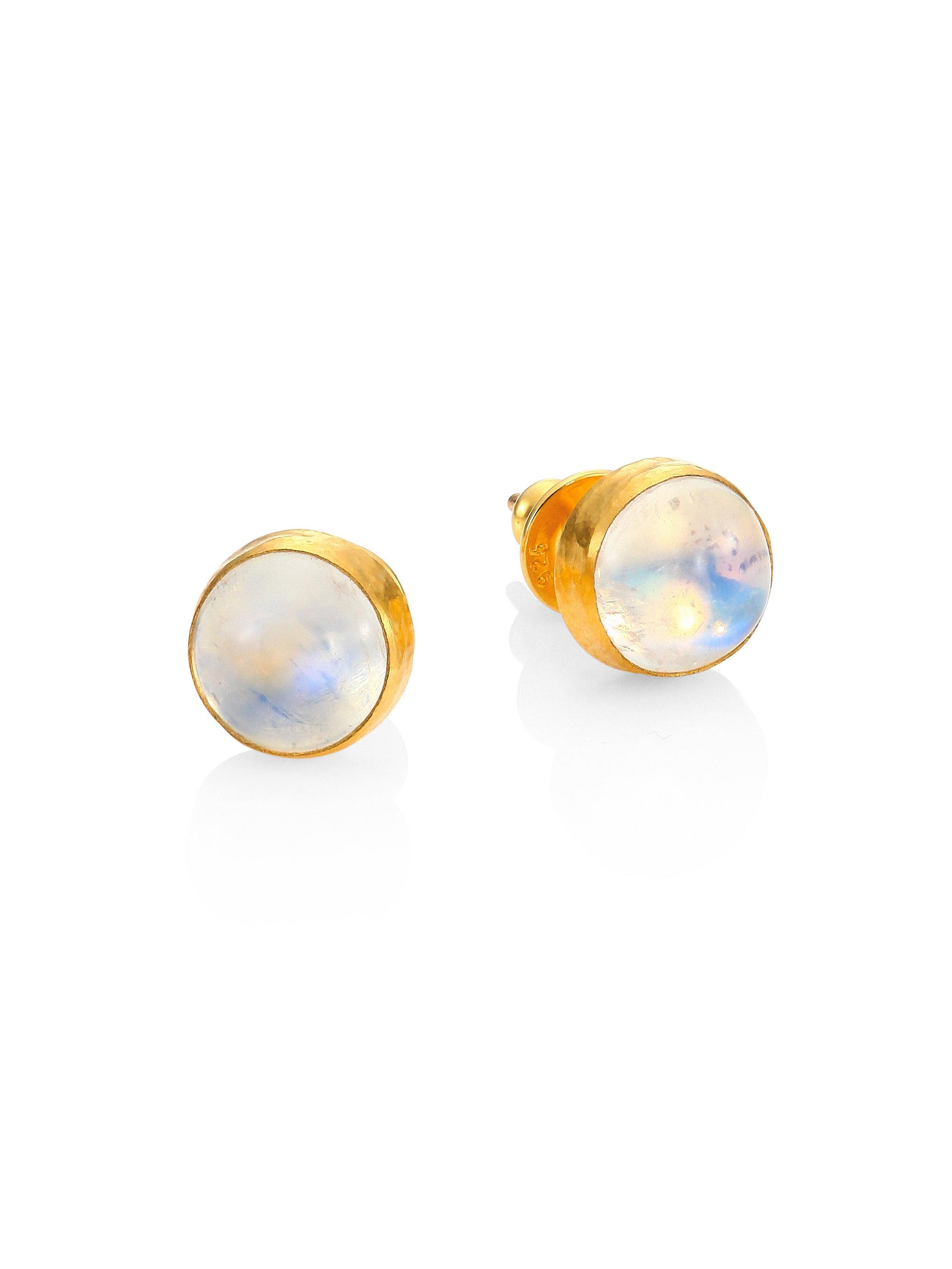 Gurhan 24k Amulet Hue Opal Stud Earrings XquvKaO