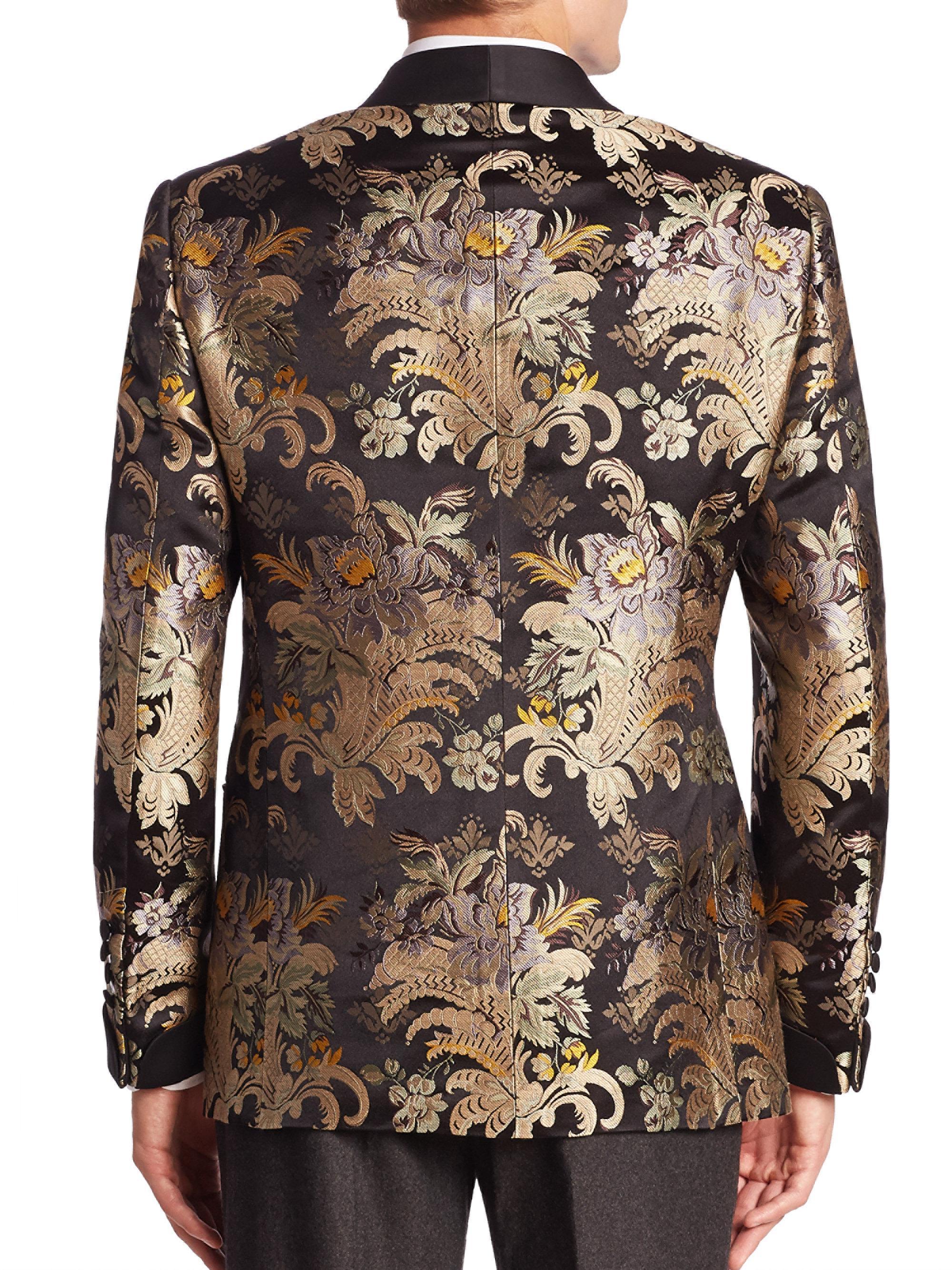 Ralph Lauren Purple Label Shawl Collar Silk Formal Jacket