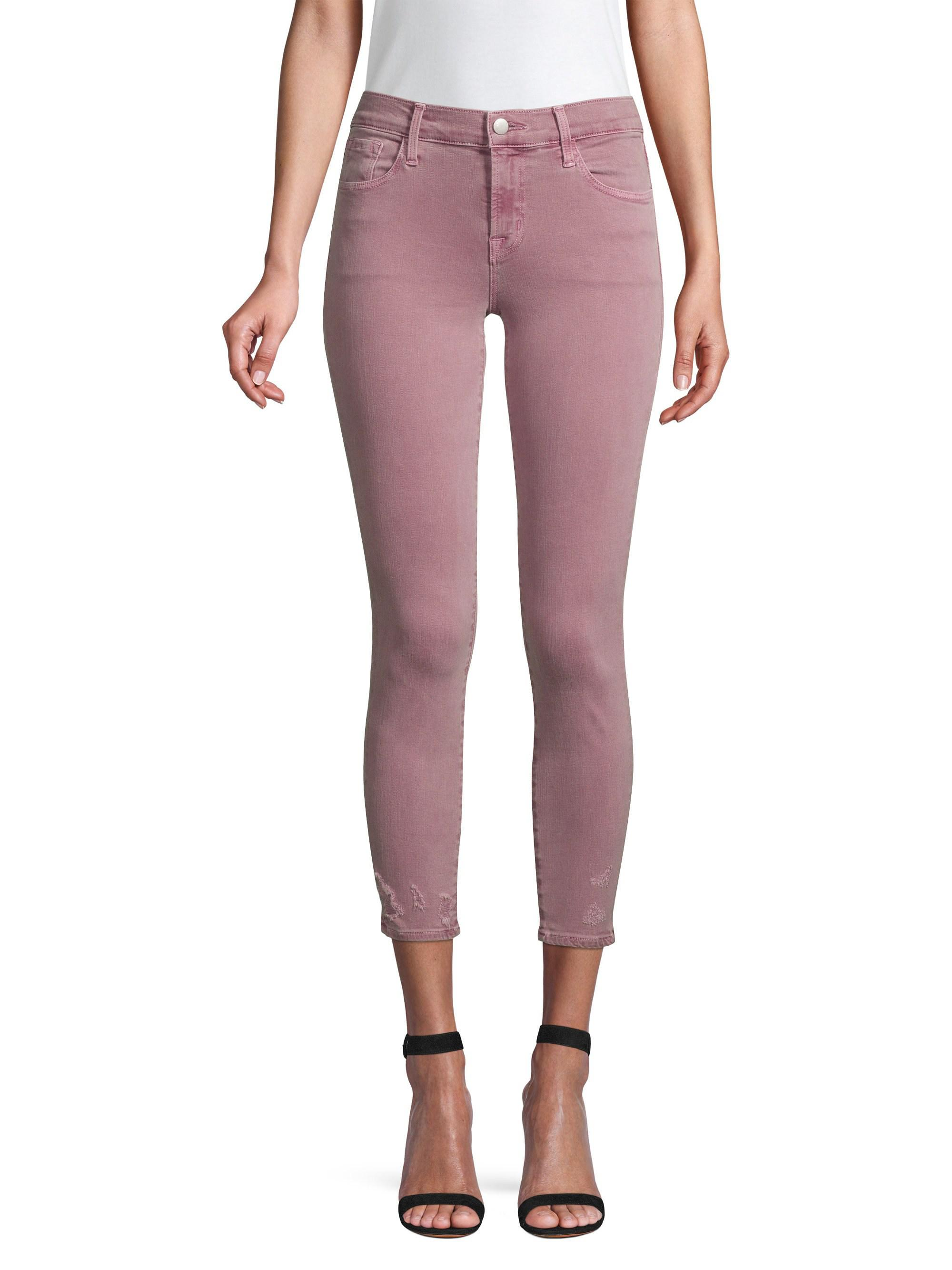 2e26b668a7fb Lyst - J Brand 835 Mid-rise Crop Skinny Jeans in Purple