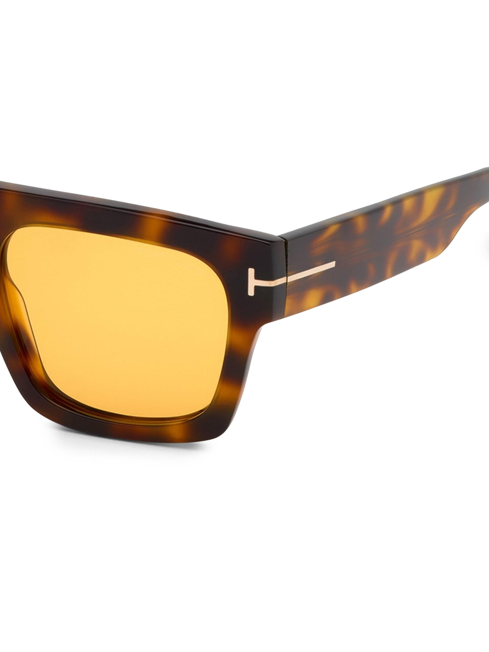 1d86dba7075 Tom Ford - Multicolor Fausto 53mm Square Sunglasses for Men - Lyst. View  fullscreen