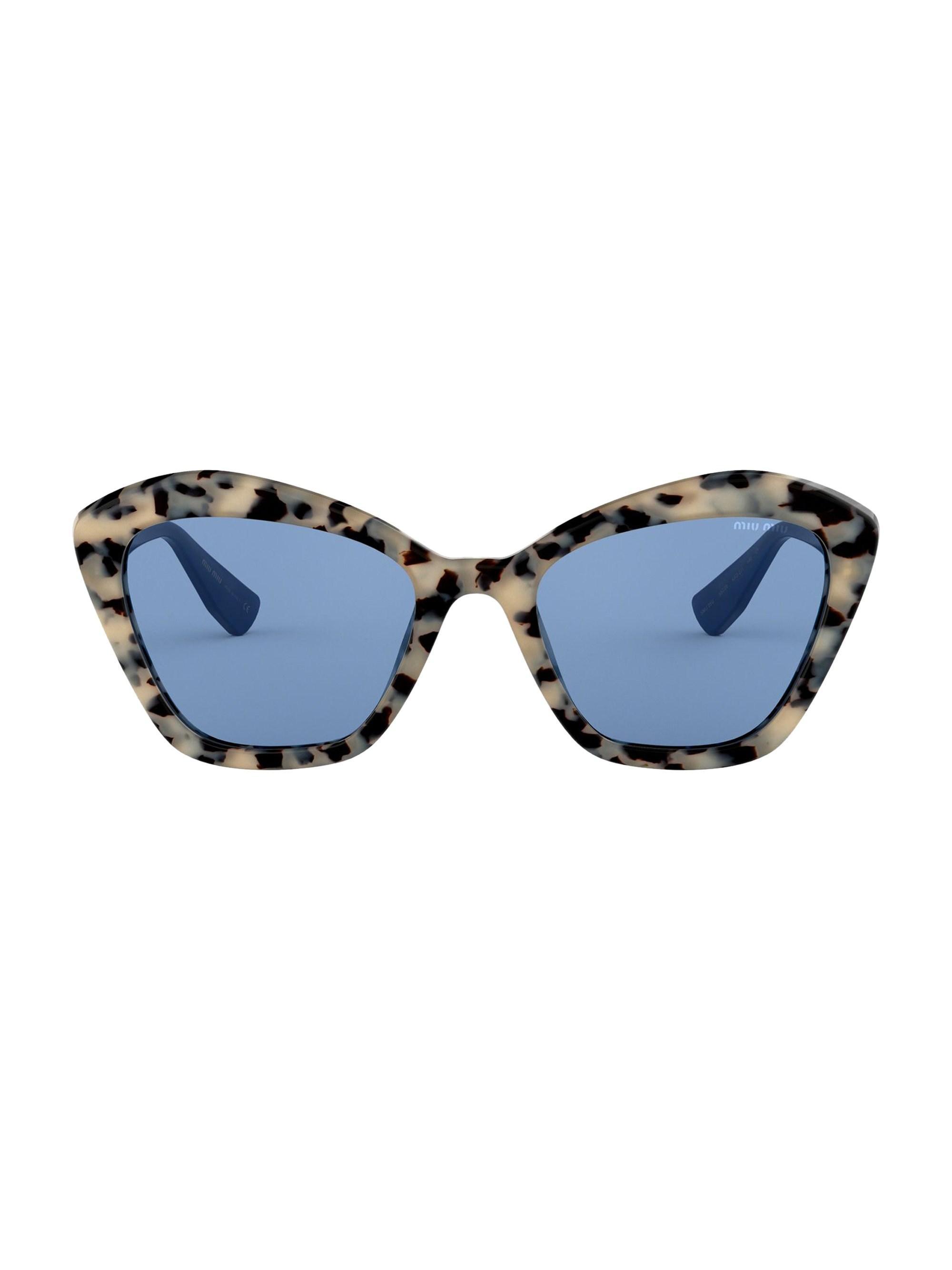 bb37c8cc2e3 Lyst - Miu Miu Women s 0mu 05us 55mm Cat Eye Sunglasses - Havana in Blue