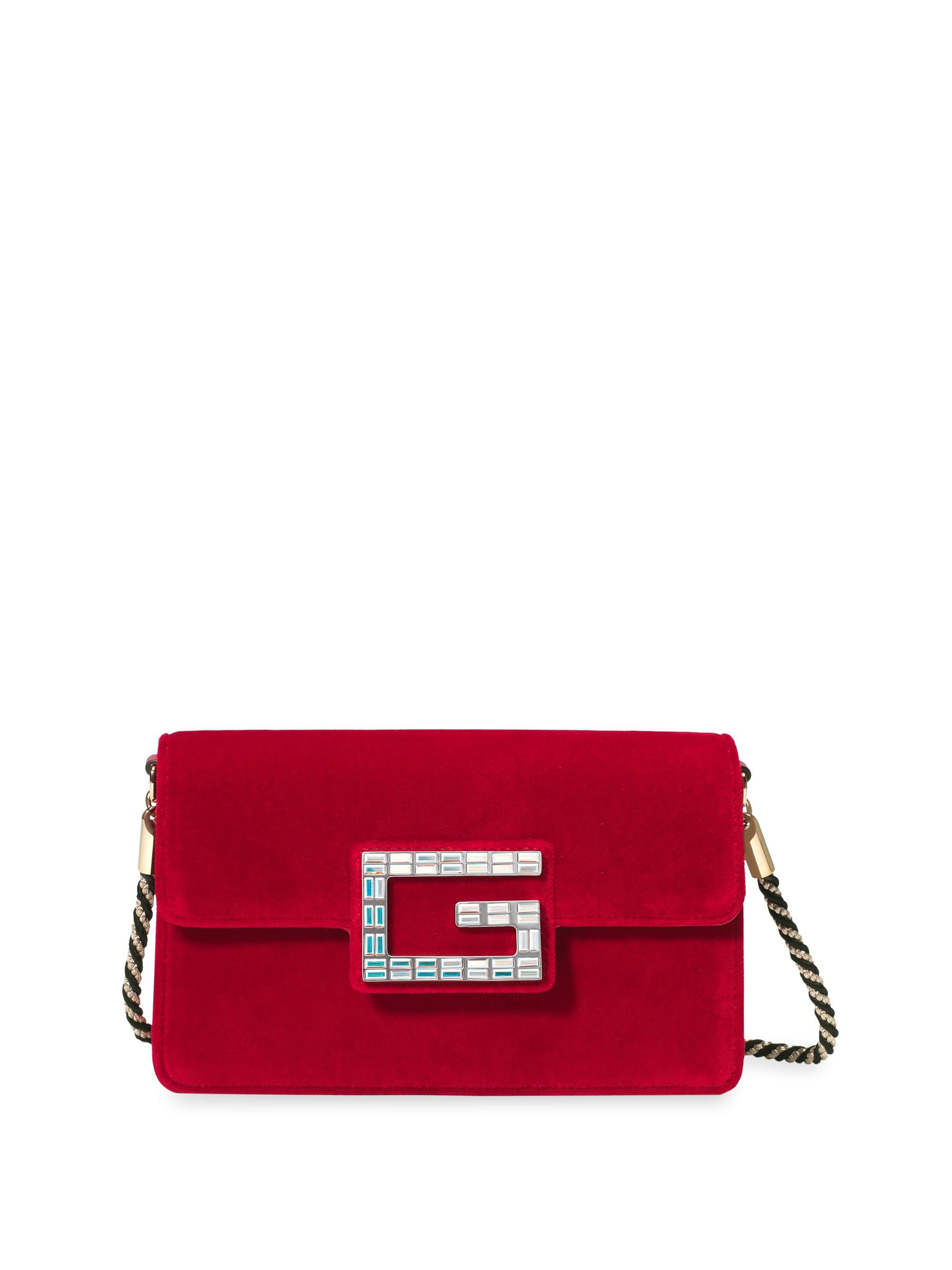 529a7cdfc5e8 Lyst - Gucci Broadway Small Shoulder Bag in Red