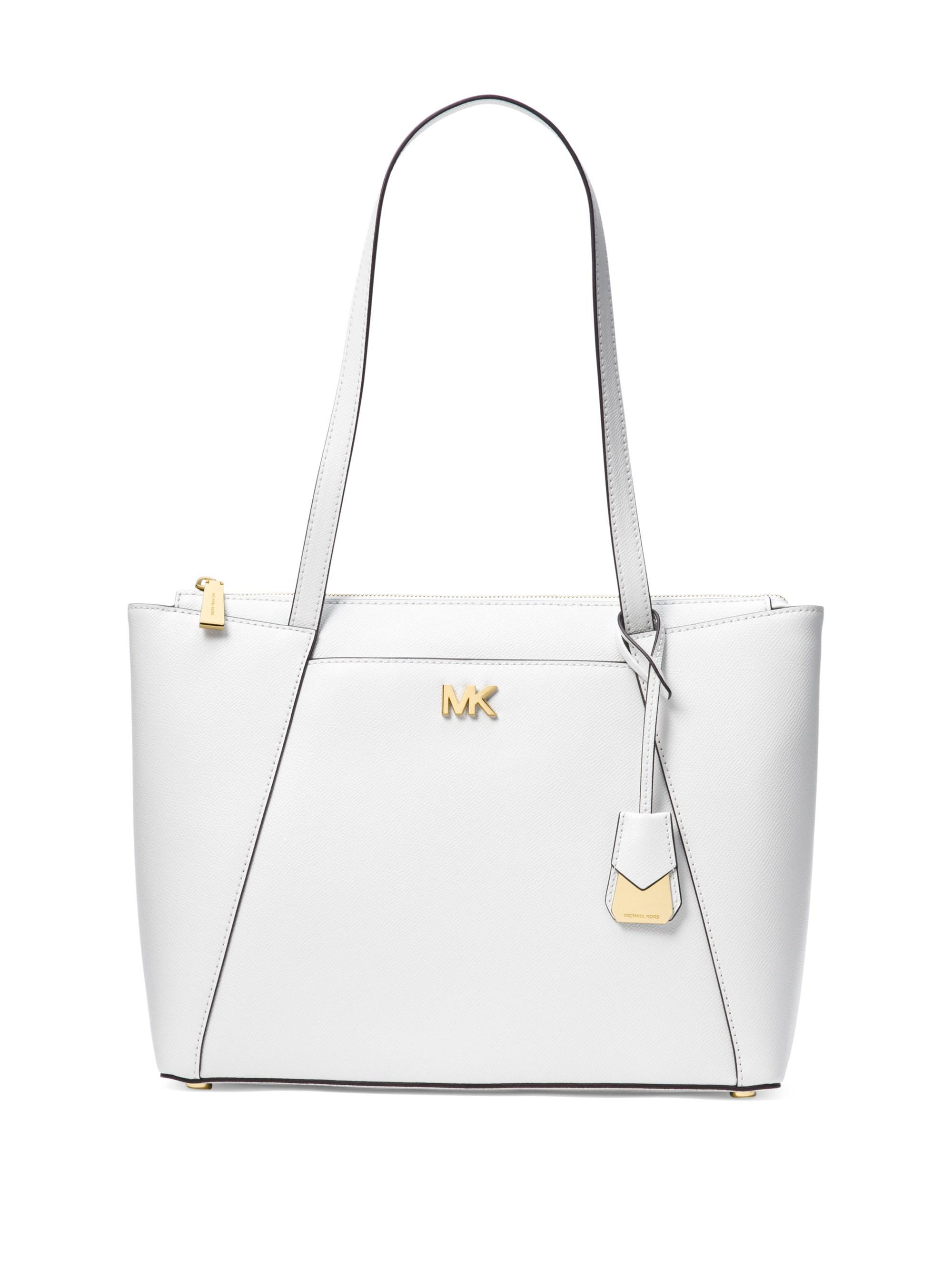 4f813d3d215b MICHAEL Michael Kors. Women s White Maddie Medium Crossgrain Leather Tote