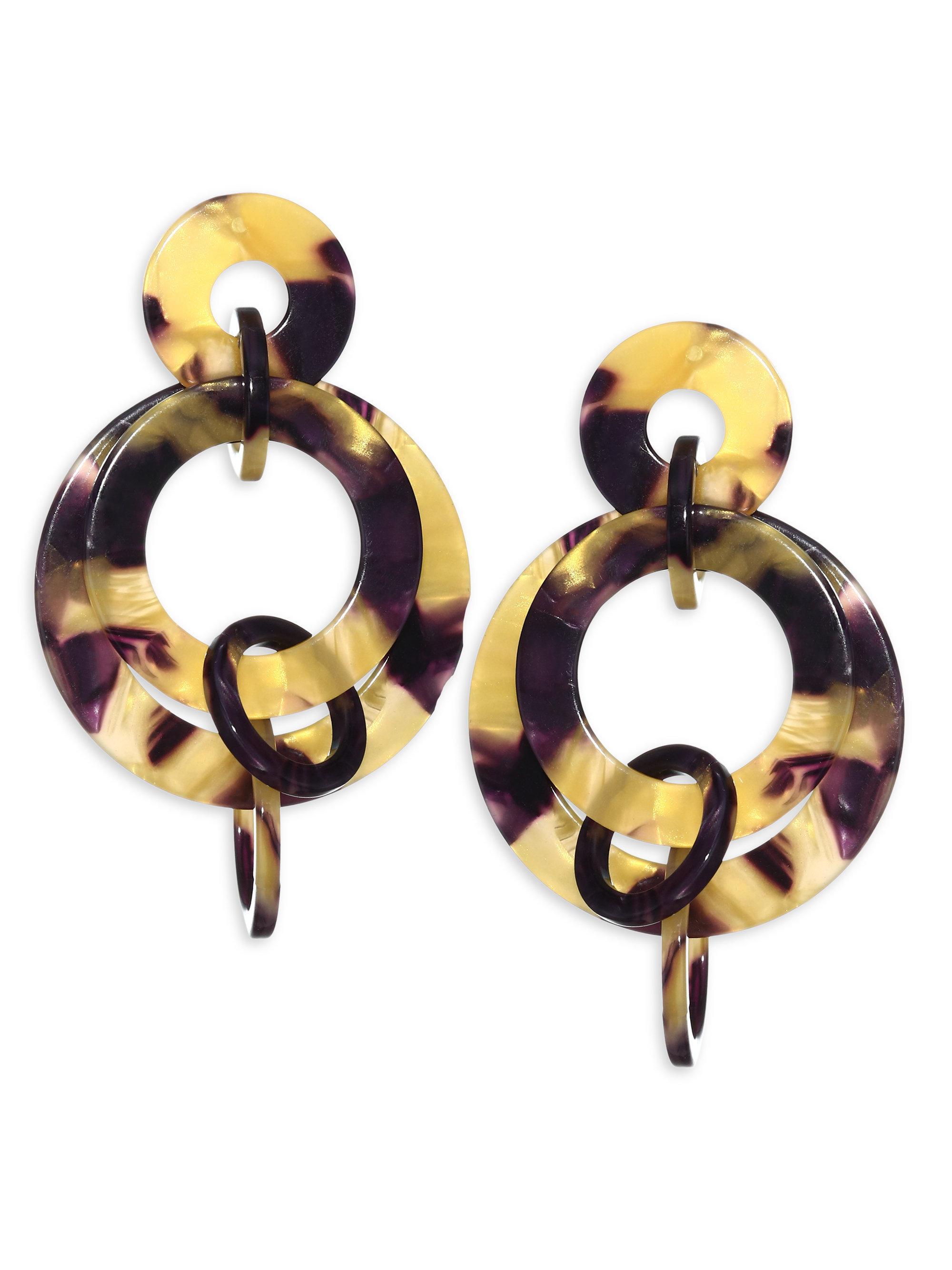 Lele Sadoughi Banded Hoop Earrings jlOhkoM
