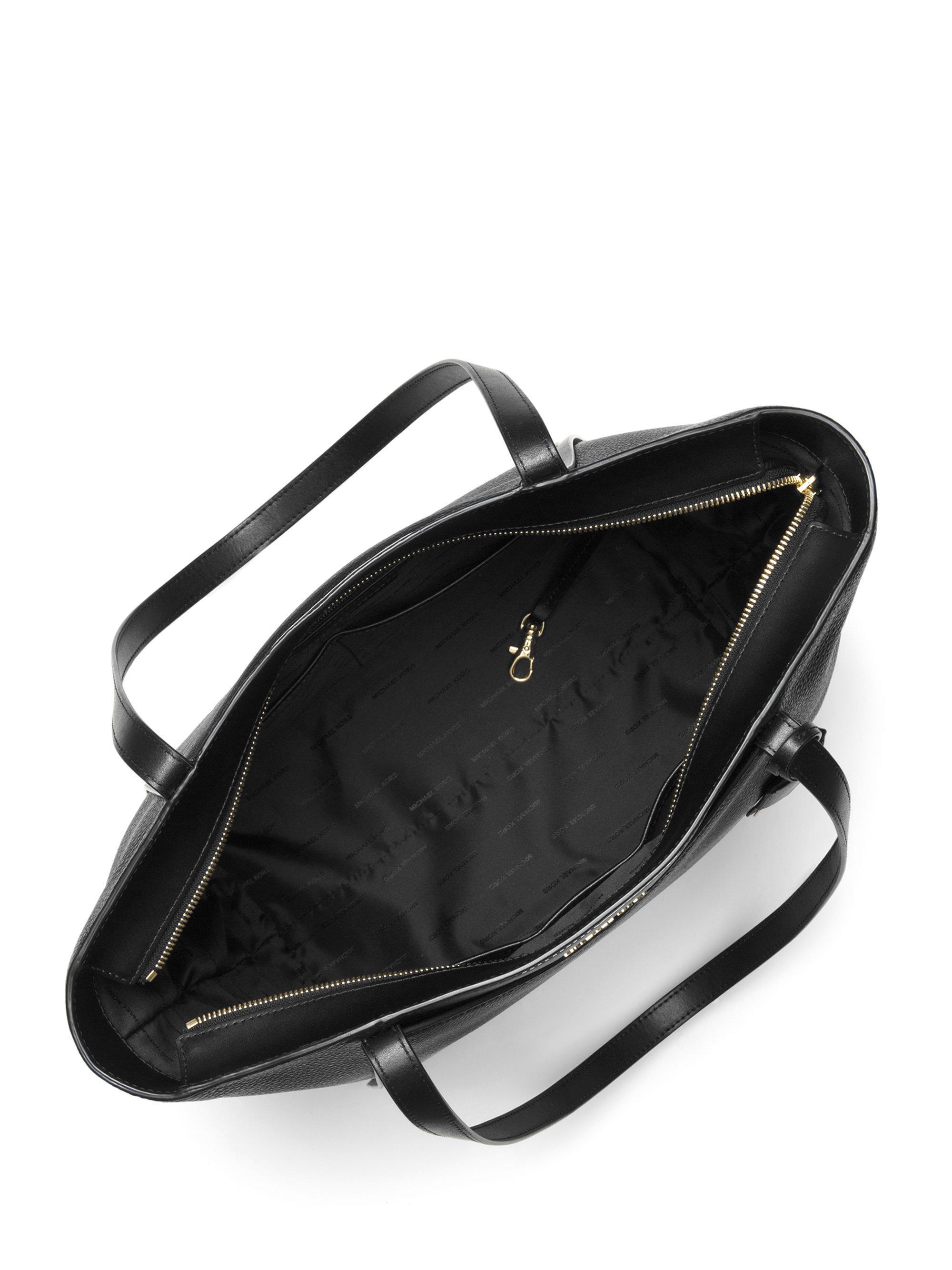 47c45621b99 MICHAEL Michael Kors - Black Large Leather Tote Bag - Lyst. View fullscreen