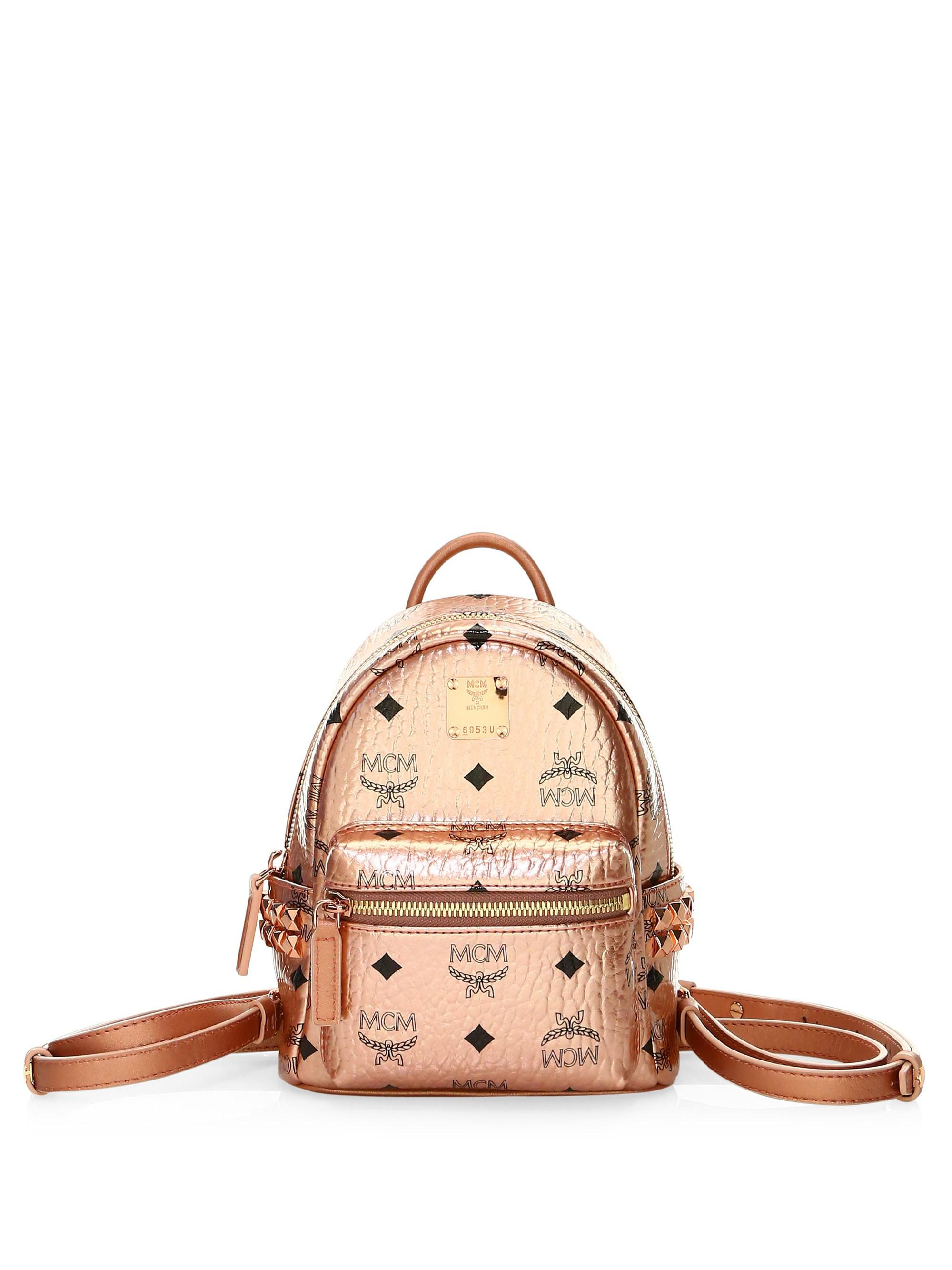d4ab86a944 MCM - Multicolor Extra Mini Stark Coated Canvas Backpack - Lyst. View  fullscreen