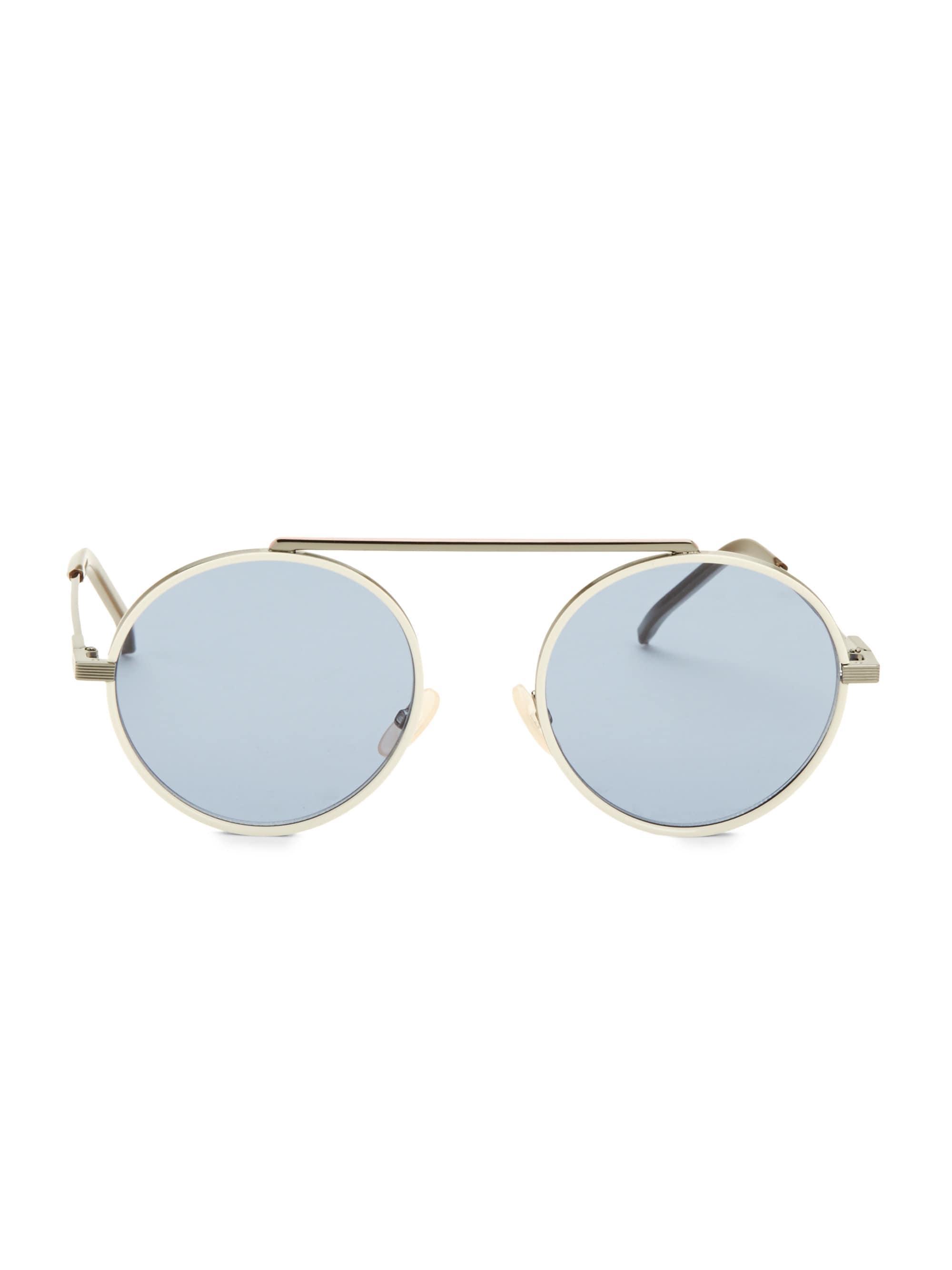 0ff6c043b91 Fendi. Women s 54mm Round Aviator Sunglasses - Dark Grey White. £388 From Saks  Fifth Avenue