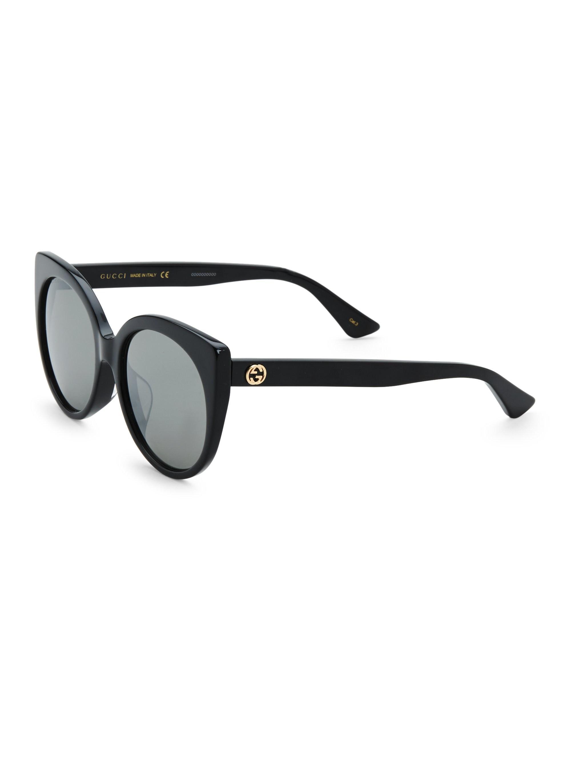 1ed35d91a6 Gucci - Black Urban 57mm Cat Eye Sunglasses - Lyst. View fullscreen
