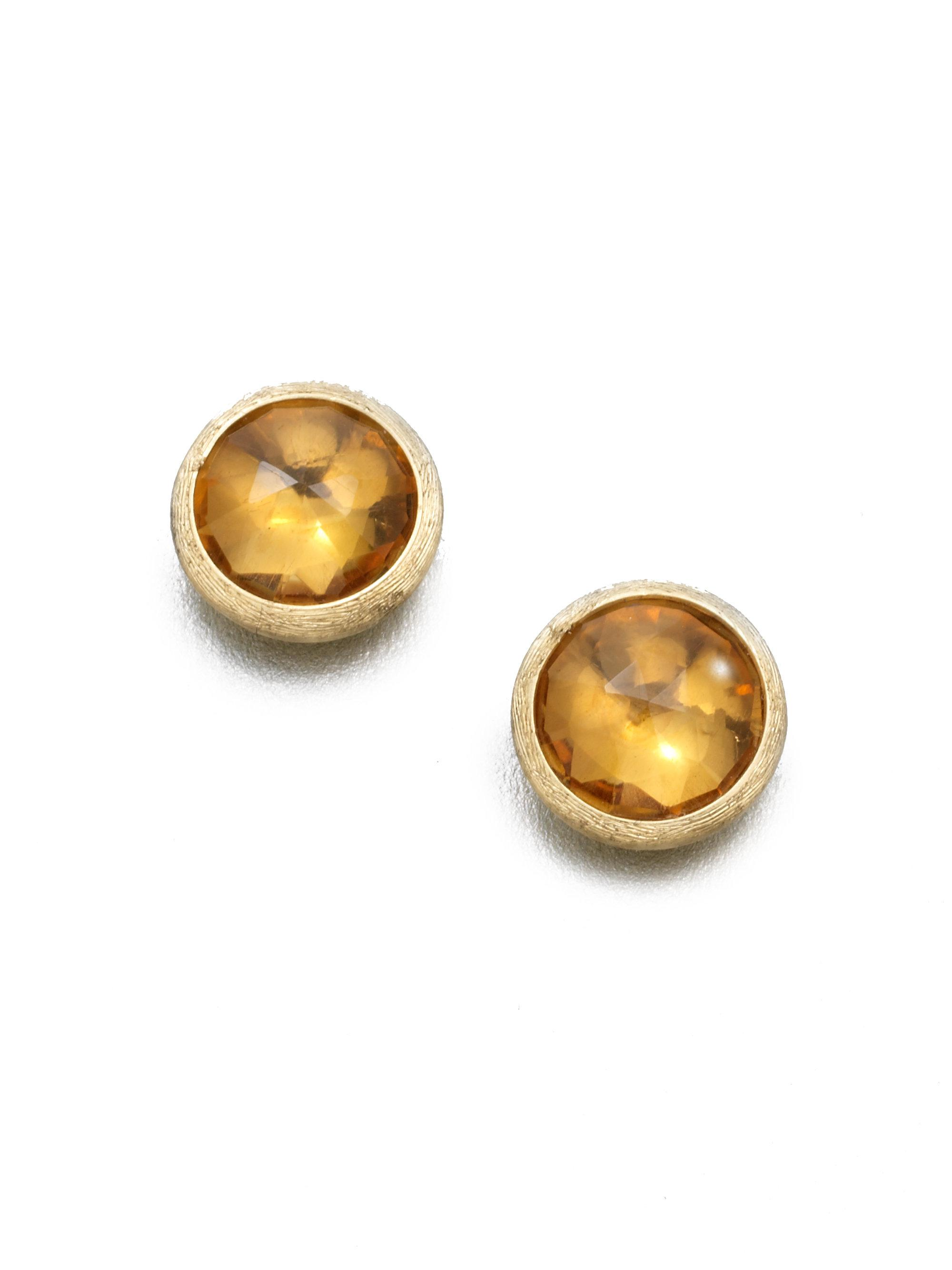 collection in earrings stud metallic gold lyst caviar view fullscreen jewelry lagos