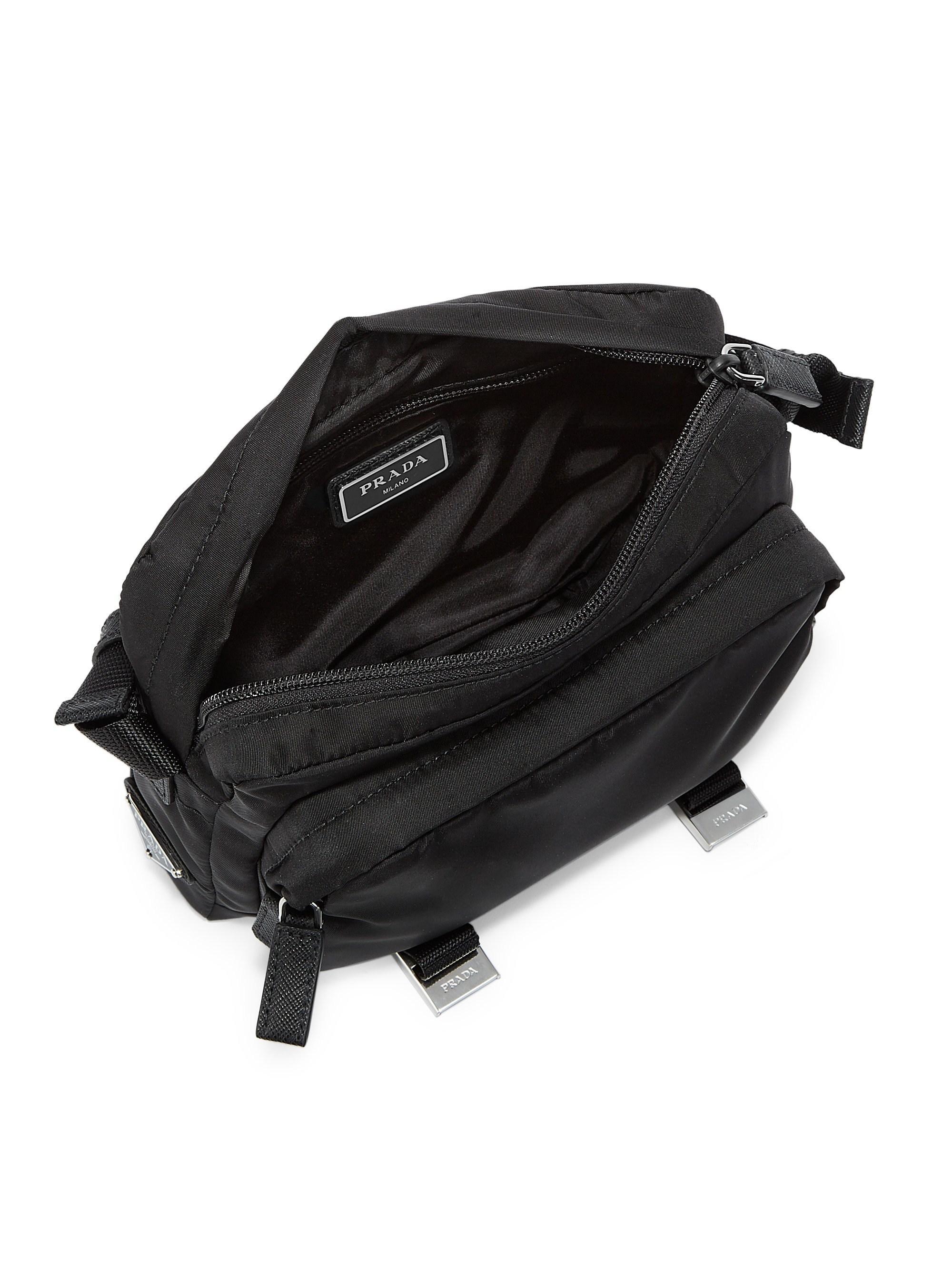 b72ec399f586 Lyst - Prada Mountain Messenger Bag in Black for Men