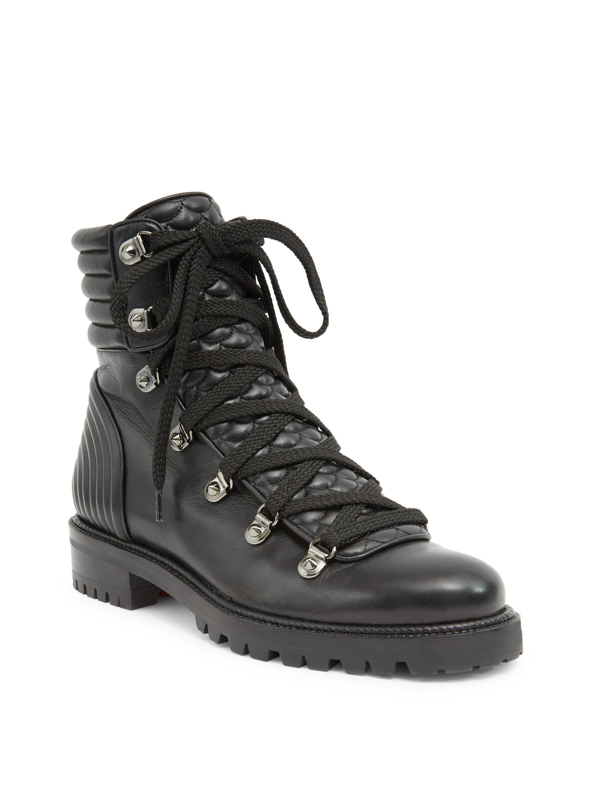 Lyst - Christian louboutin Mad Boot Quilted Leather Booties in Black : quilted booties - Adamdwight.com