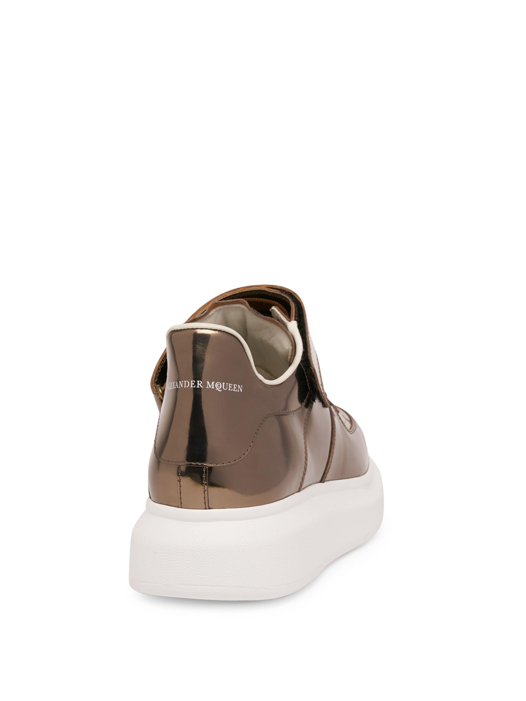 5997e9706b Alexander McQueen Men's Ankle Strap Leather Platform Sneakers ...