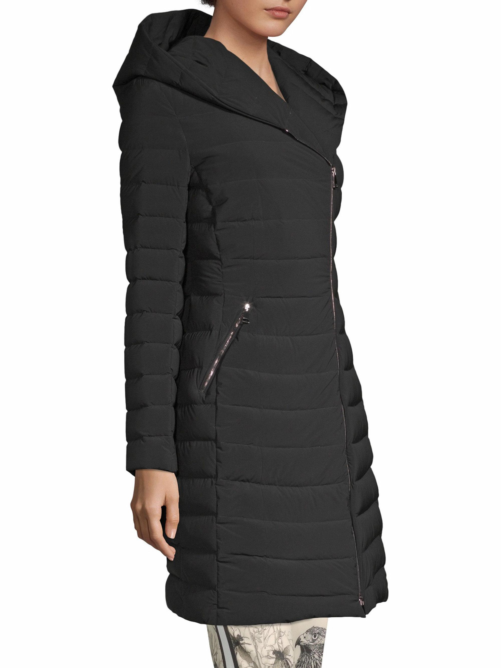045532ebe4918 Moncler Barge Matte Stretch Coat in Black - Save 21% - Lyst