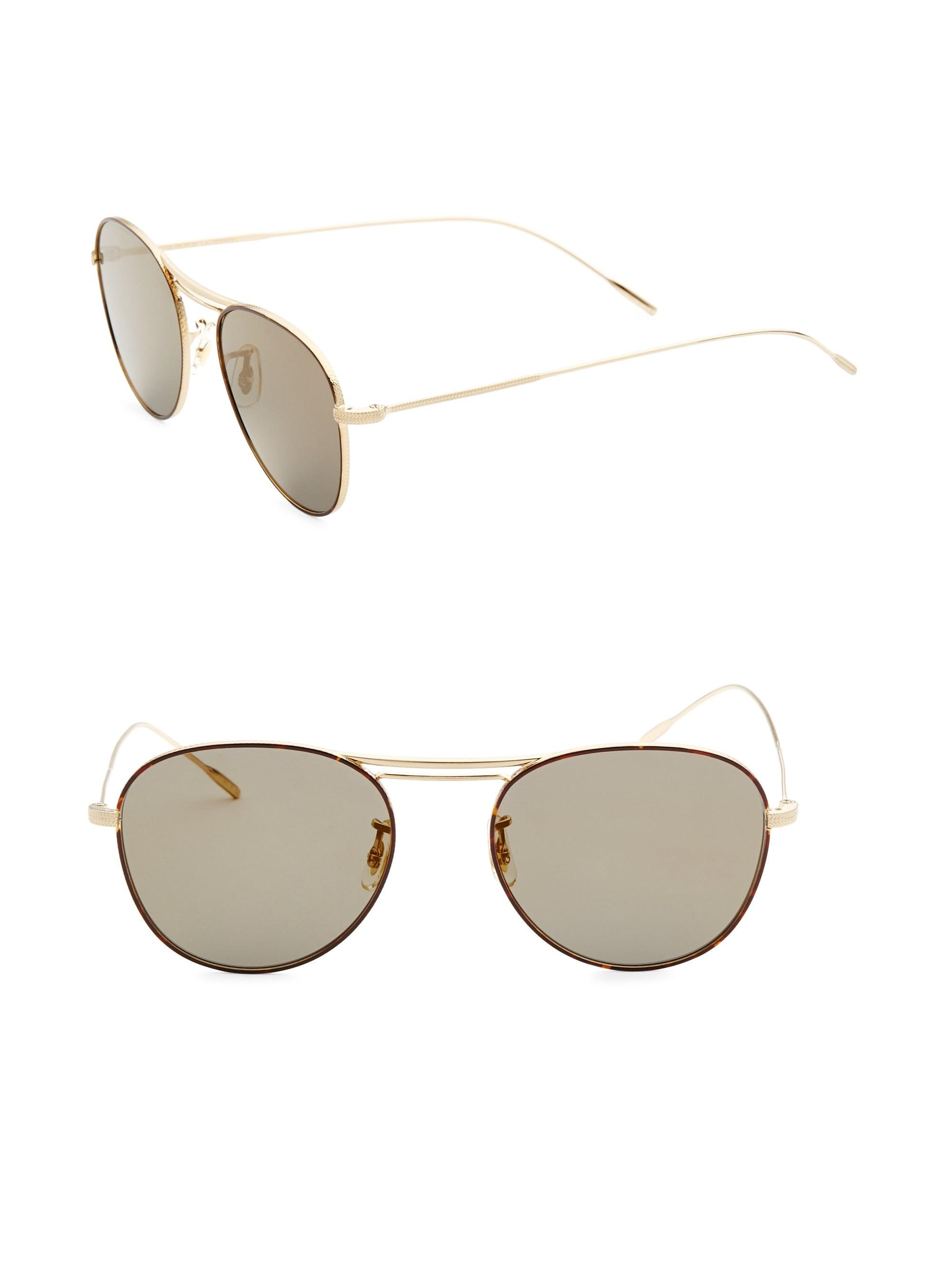 Oliver Peoples Women s Cade 52mm Aviator Sunglasses - Gold in ... 7e6dd62cd7